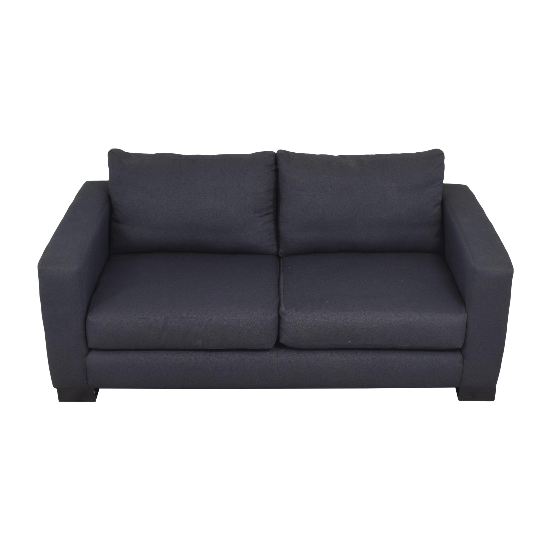 Two Cushion Track Arm Apartment Sofa