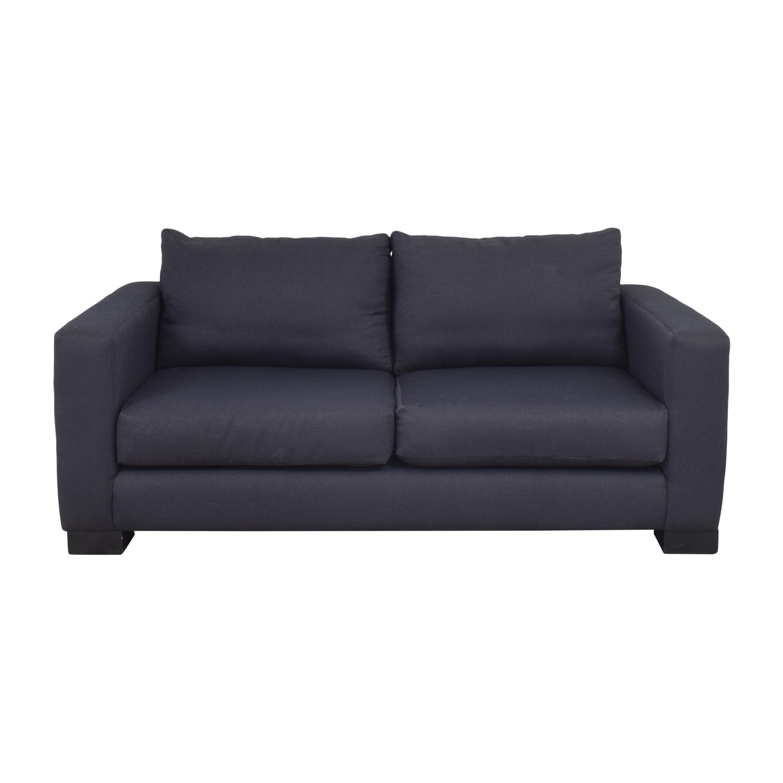 Two Cushion Track Arm Apartment Sofa pa