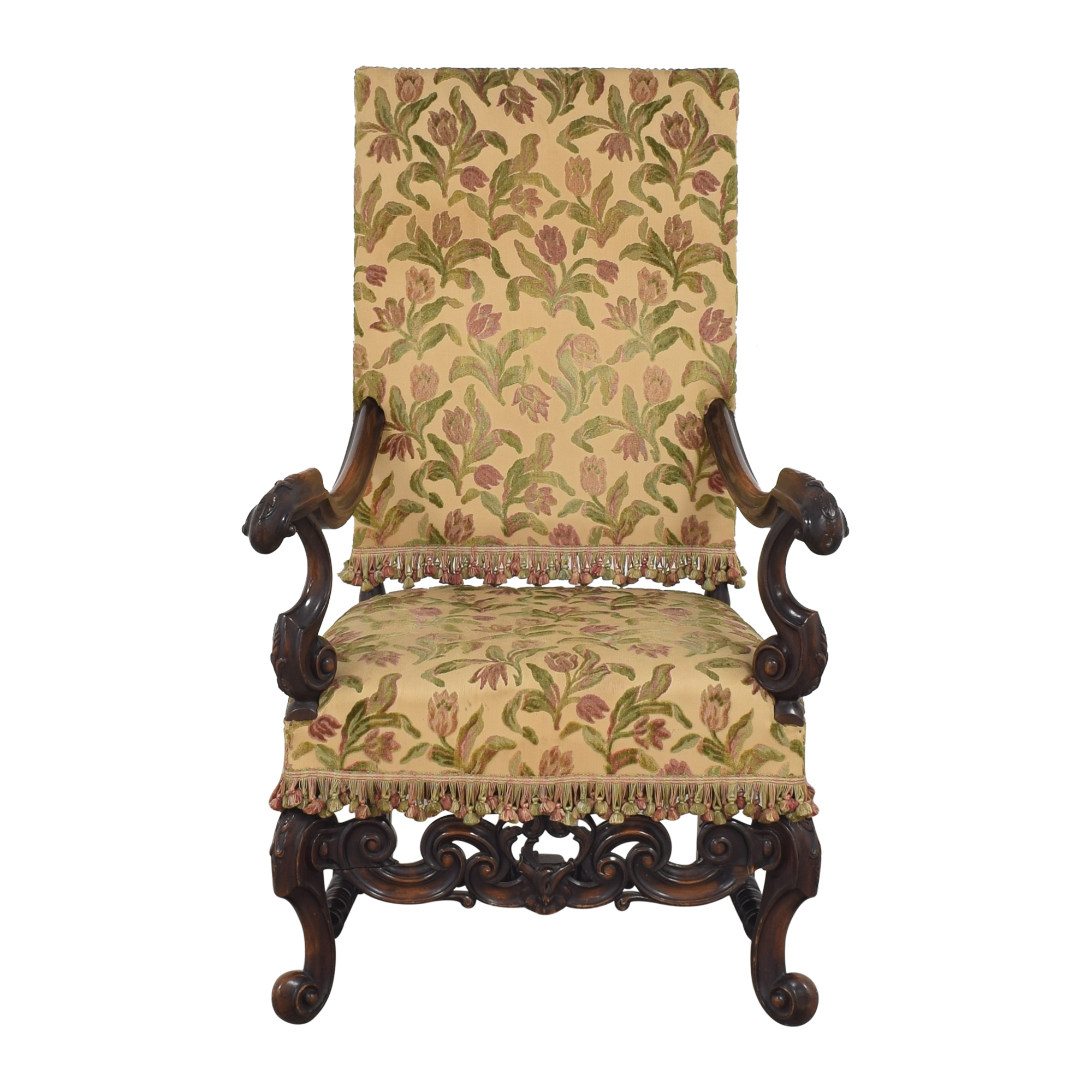 Vintage Floral Accent Chair used
