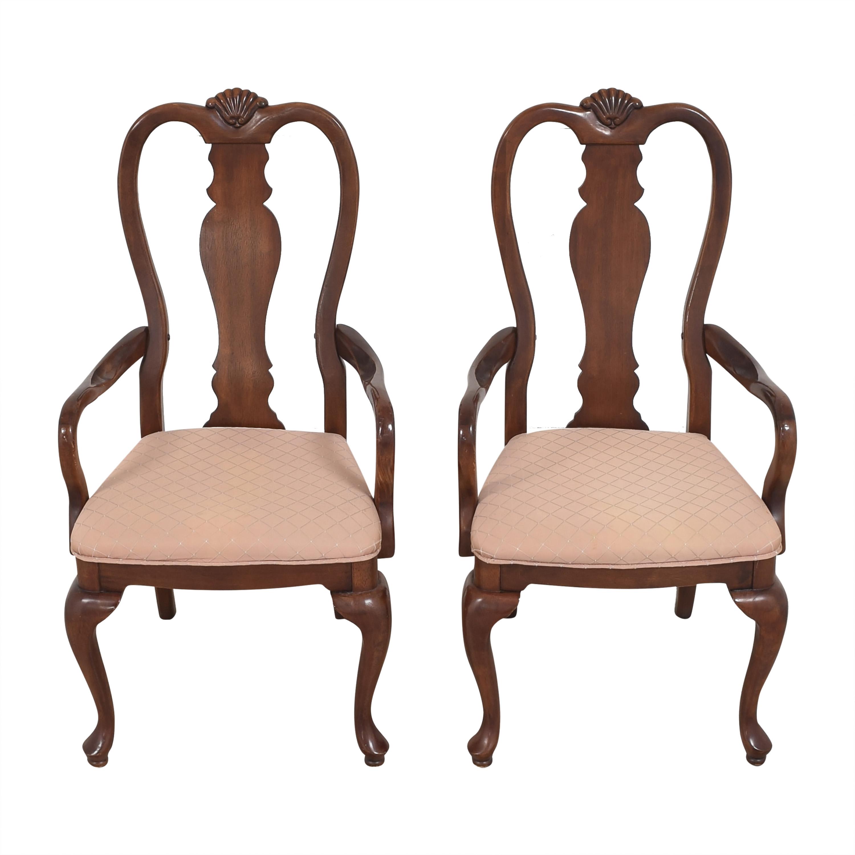 shop Bernhardt Queen Anne Dining Arm Chairs Bernhardt