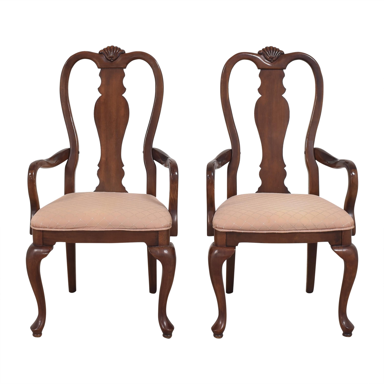 Bernhardt Bernhardt Queen Anne Dining Arm Chairs nyc