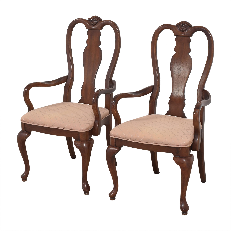 Bernhardt Bernhardt Queen Anne Dining Arm Chairs coupon