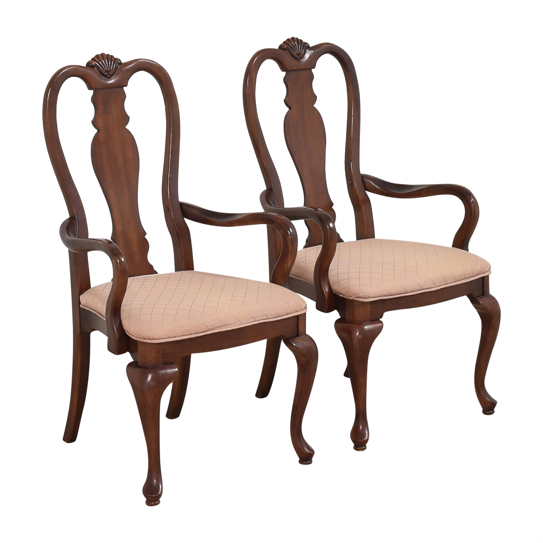 buy Bernhardt Queen Anne Dining Arm Chairs Bernhardt Dining Chairs