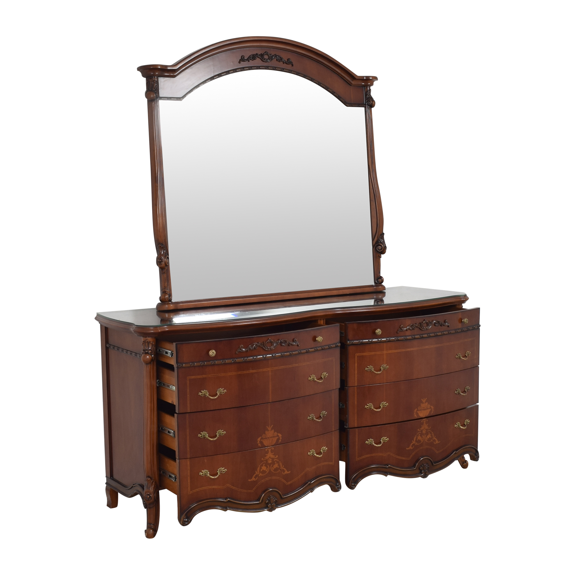 Double Dresser with Mirror brown