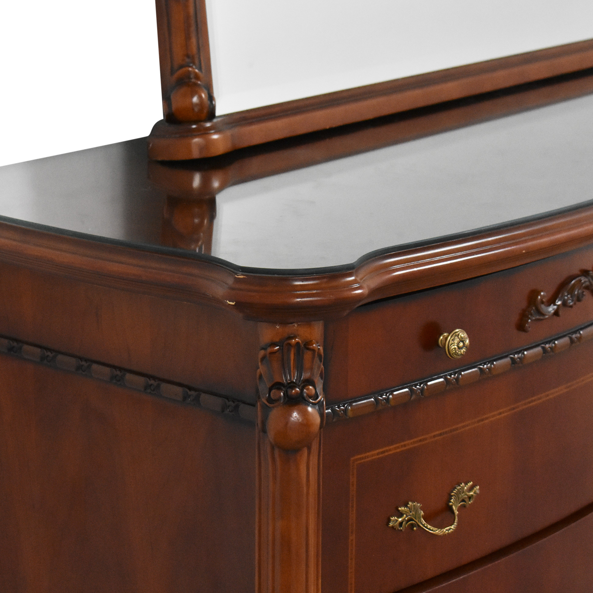 Double Dresser with Mirror Storage