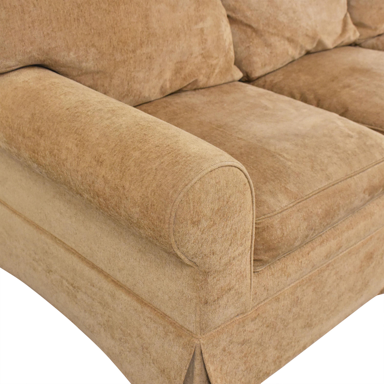Pearson Pearson Three Cushion Skirted Sofa dimensions