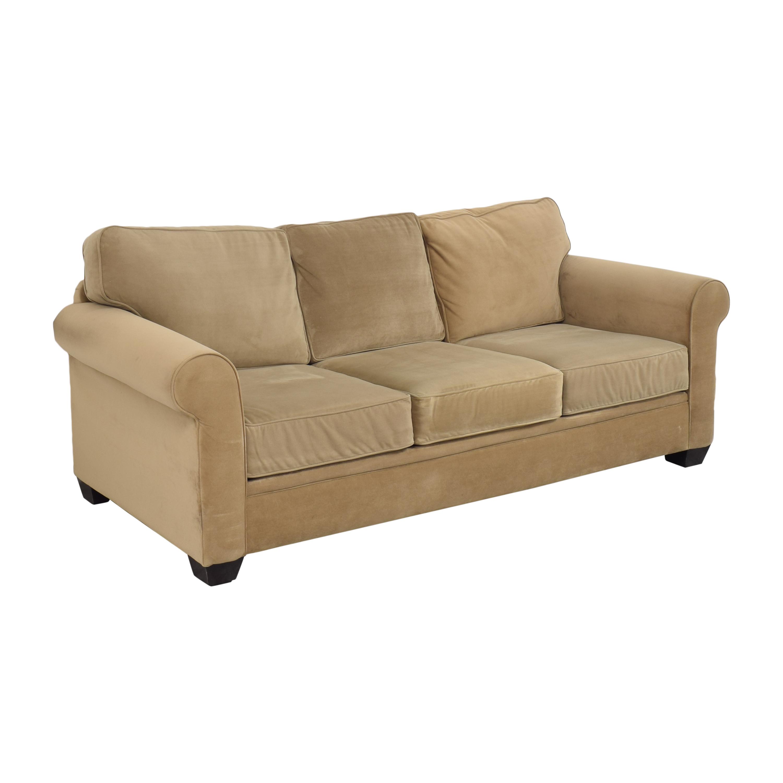 Macy's Macy's Three Cushion Roll Arm Sofa price