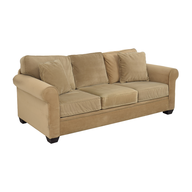 Macy's Macy's Three Cushion Roll Arm Sofa for sale