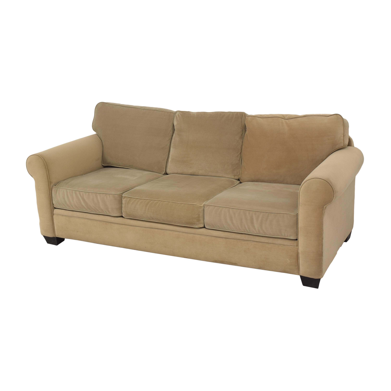 Macy's Macy's Three Cushion Roll Arm Sofa nyc