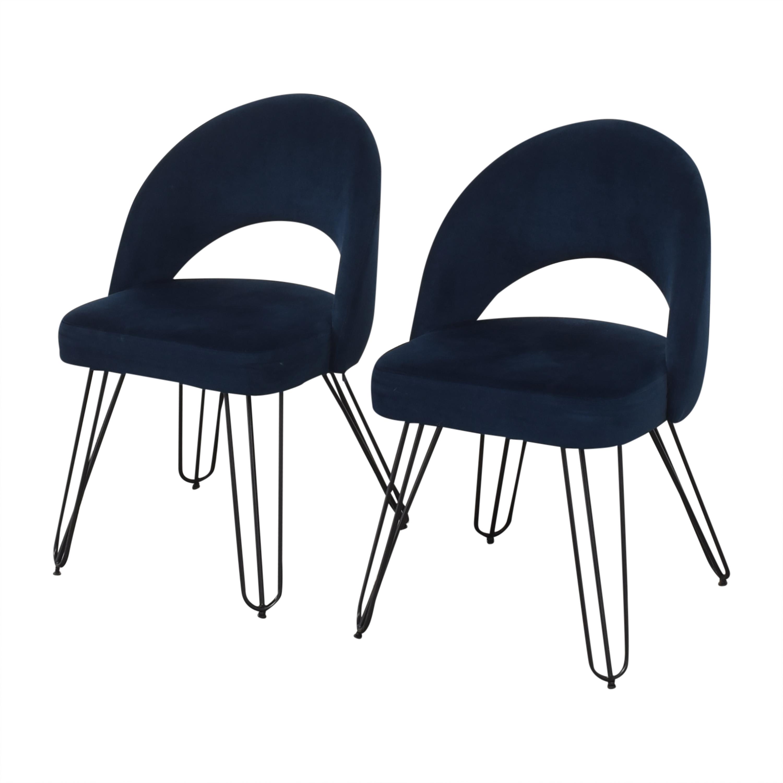 Safavieh Safavieh Jora Retro Side Chairs dark blue