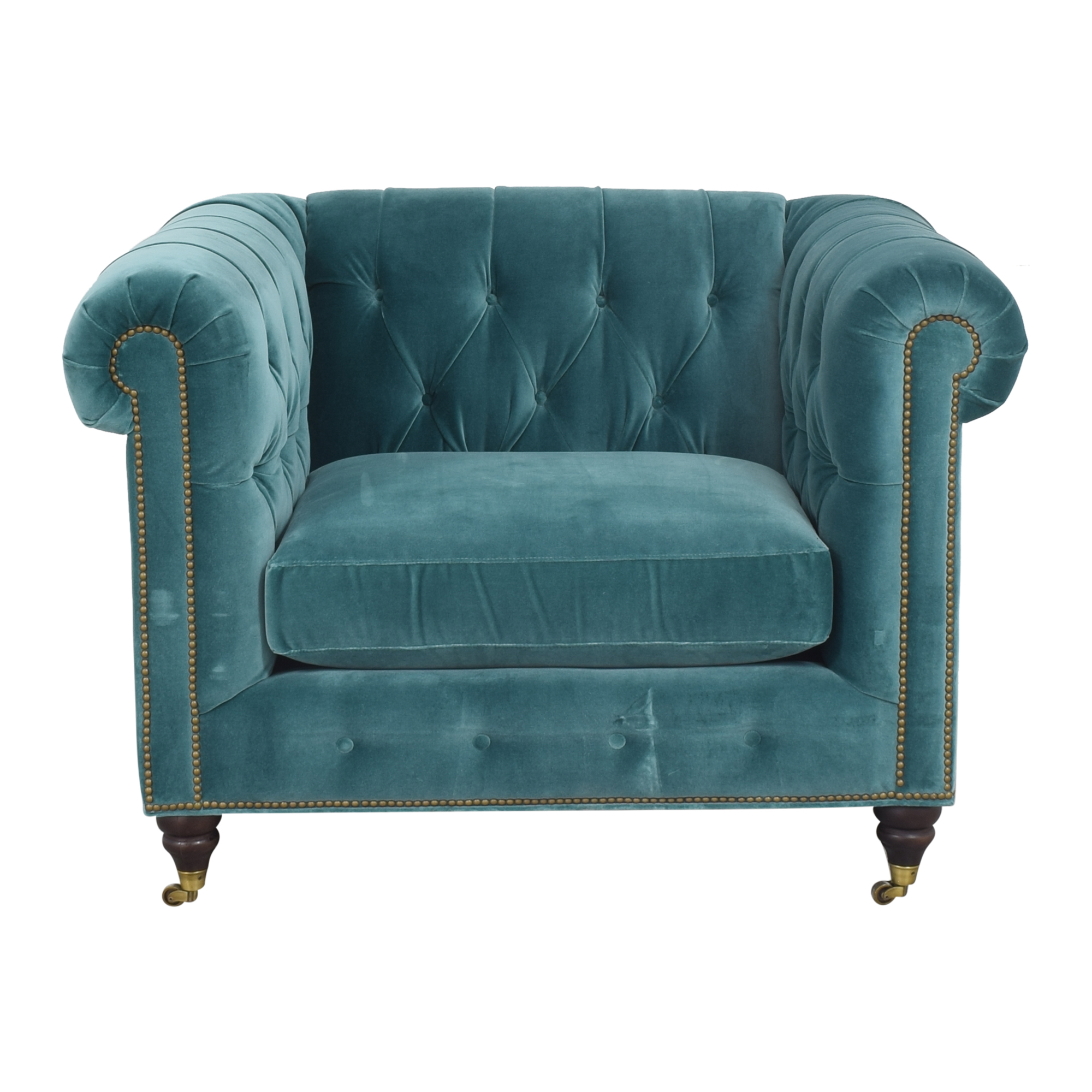 Anthropologie Lyre Chesterfield Chair / Accent Chairs