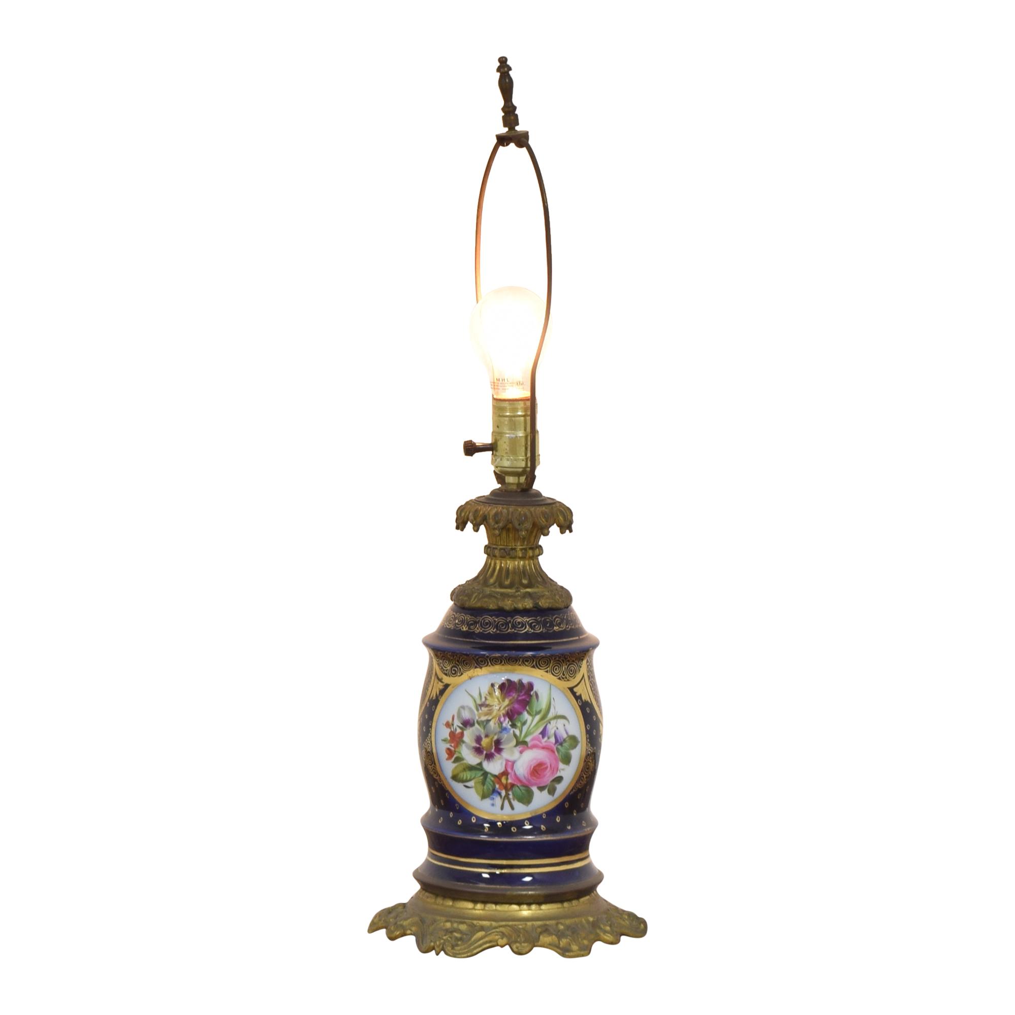 shop  Antique Floral Table Lamp online