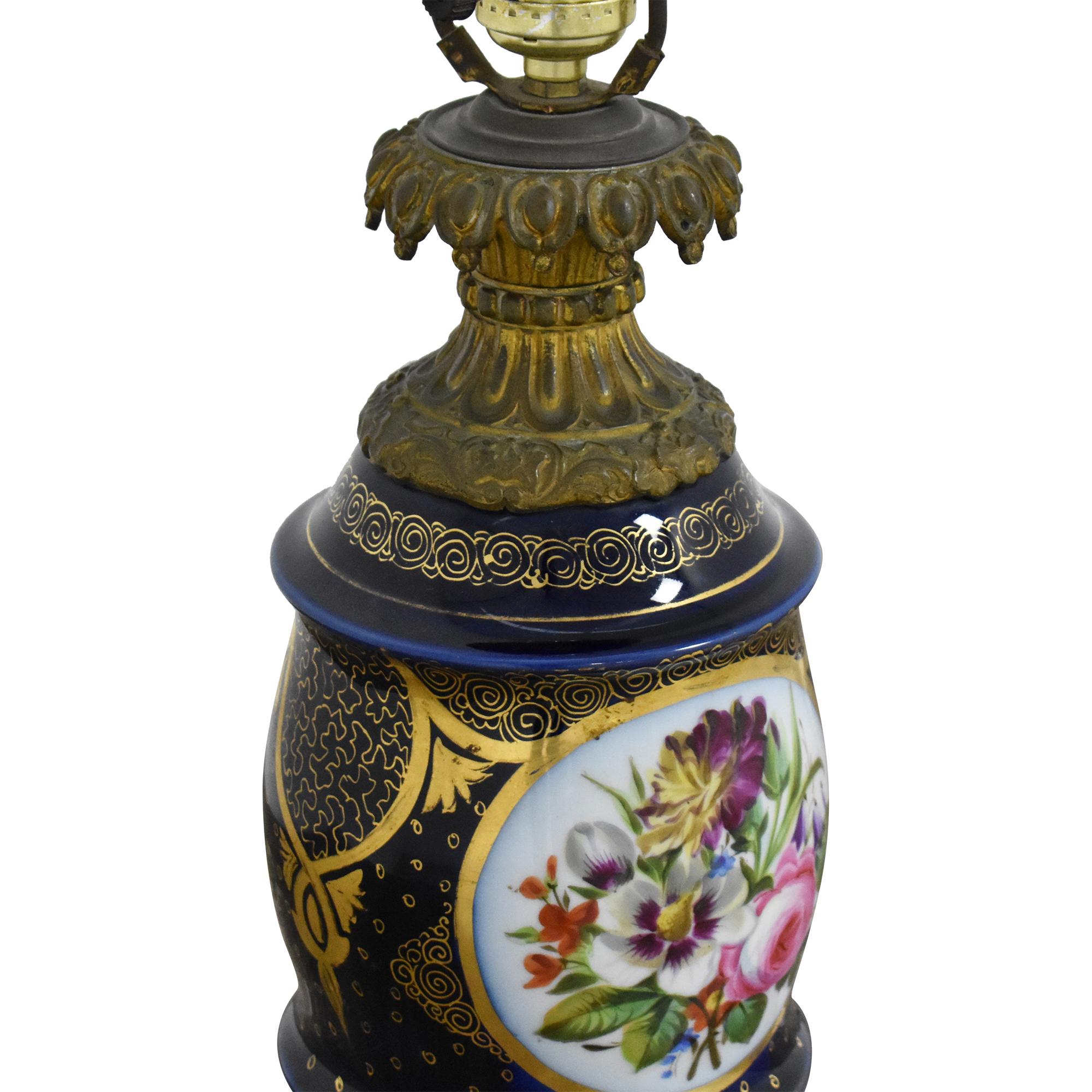 Antique Floral Table Lamp ct