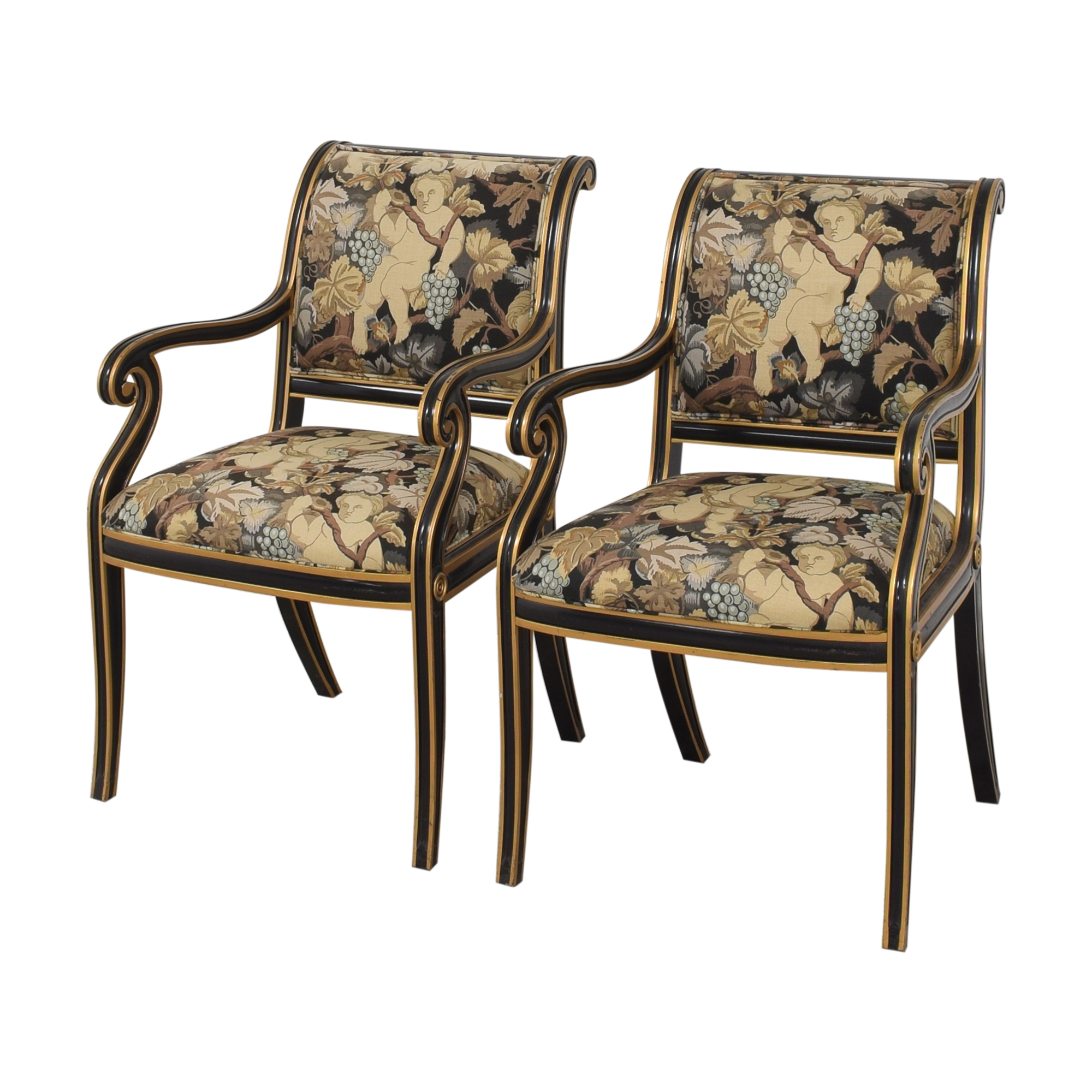 buy Councill Floral Scroll Dining Arm Chairs Councill