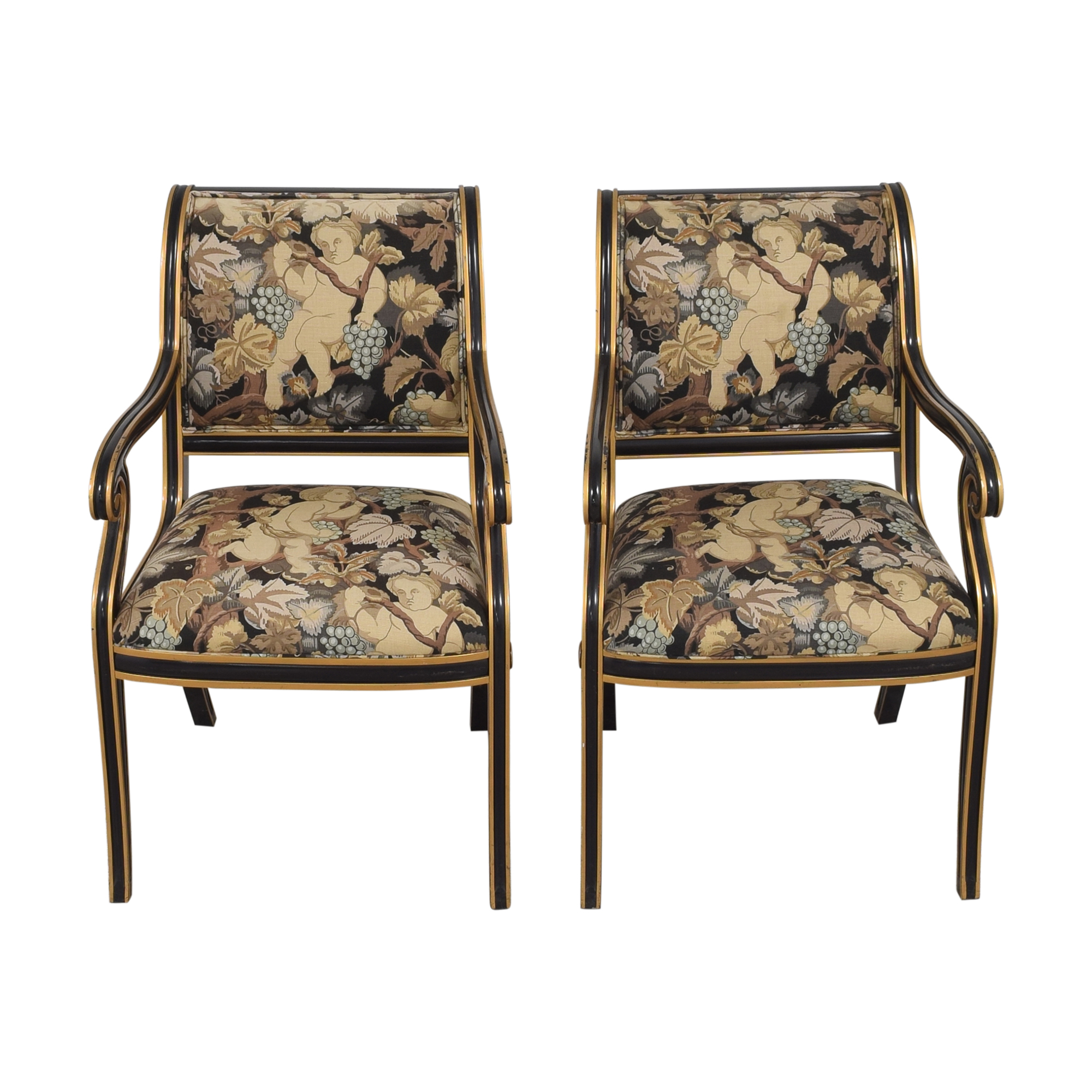 shop Councill Floral Scroll Dining Arm Chairs Councill Chairs