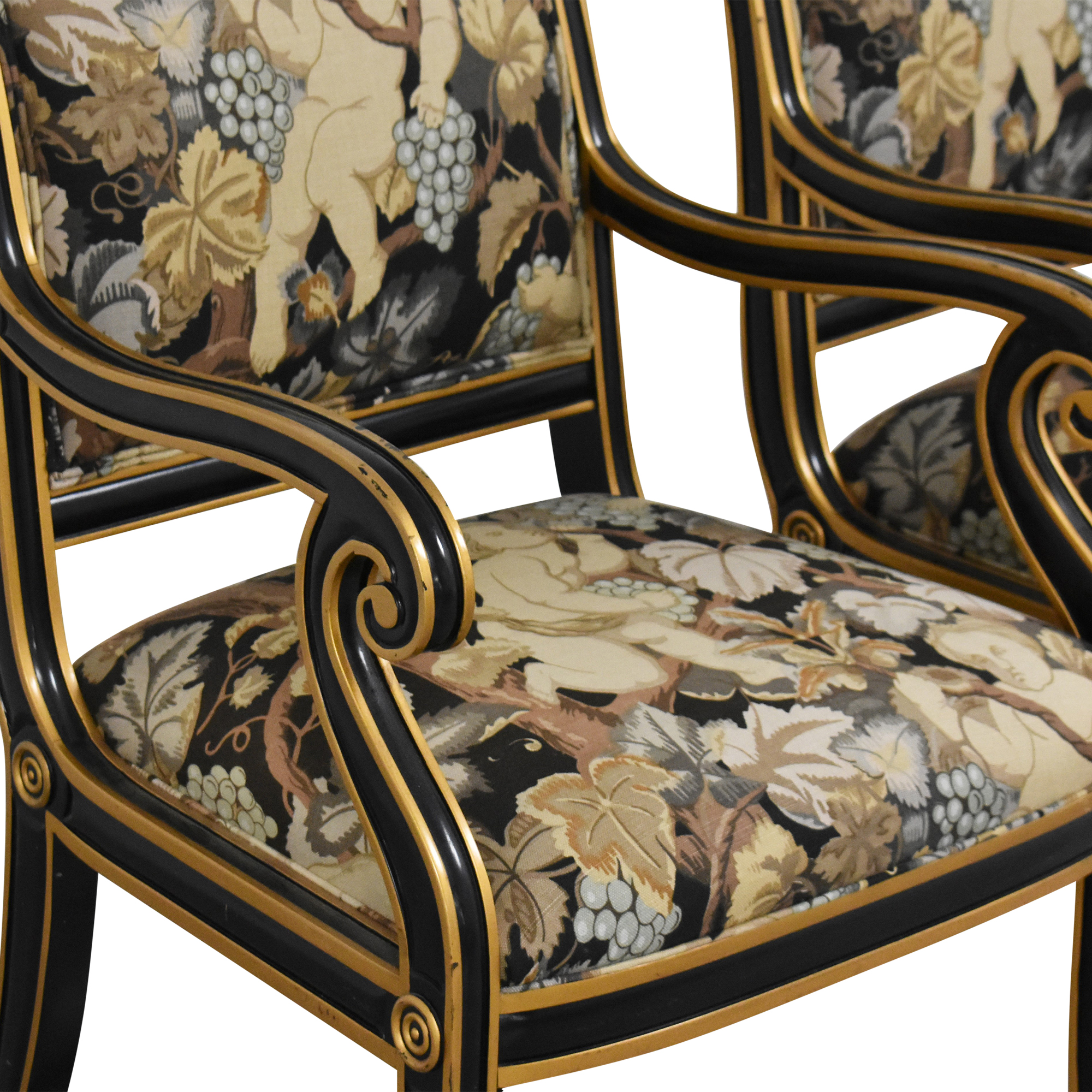 Councill Councill Floral Scroll Dining Arm Chairs Chairs