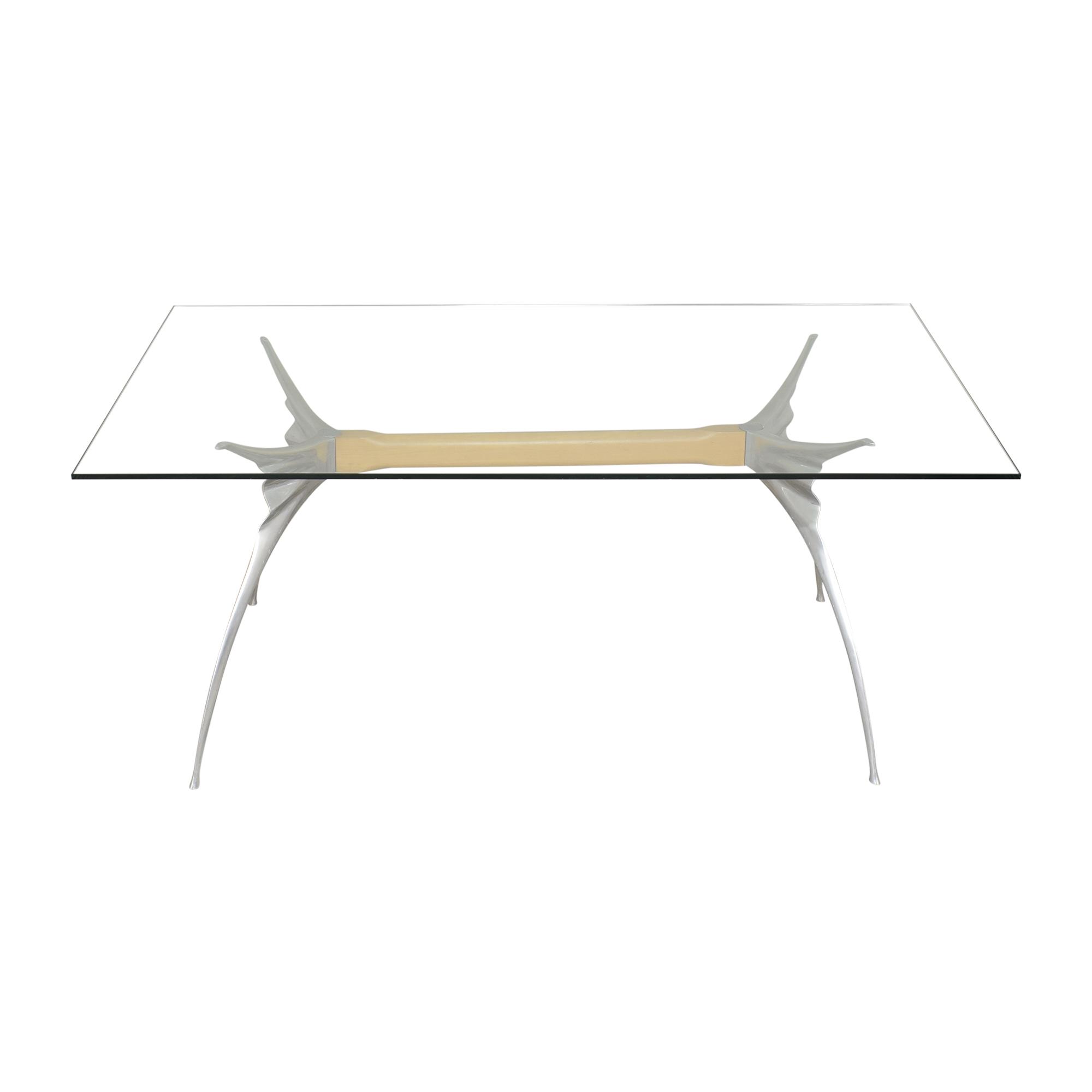 buy Protis Transparent Dining Table Protis Dinner Tables