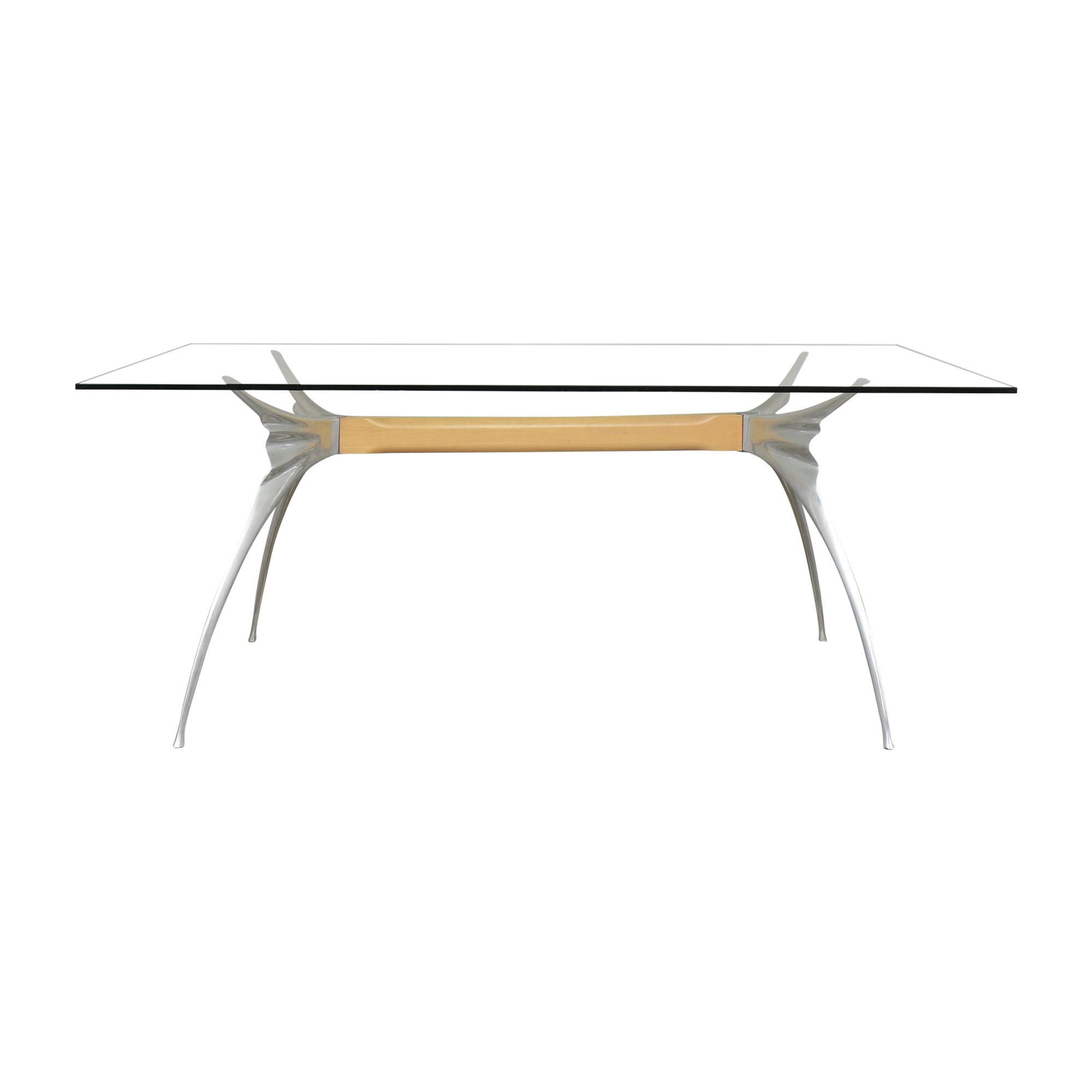 Protis Protis Transparent Dining Table used