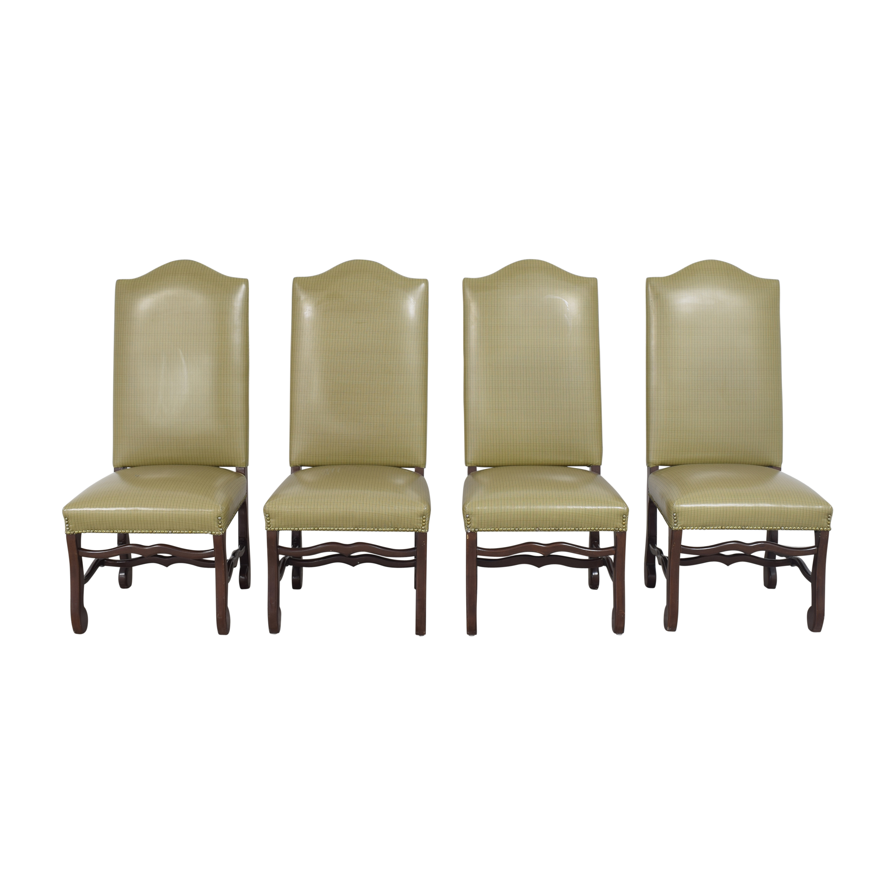 Pearson Pearson Plaid Dining Chairs second hand
