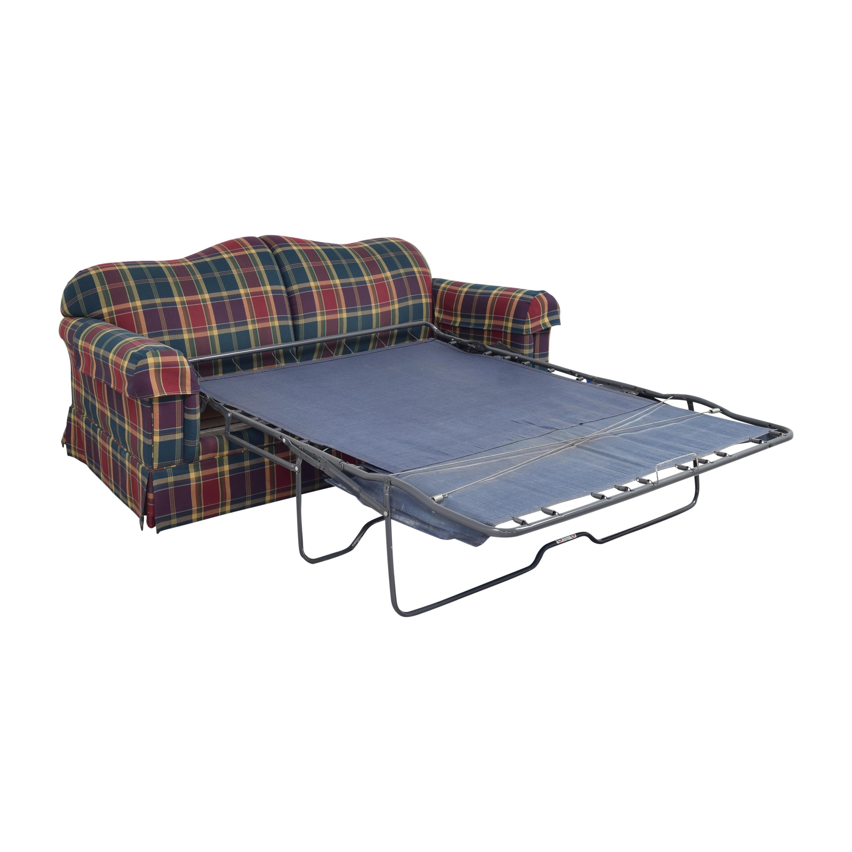 Leggett & Platt Plaid Sleeper Sofa / Sofa Beds