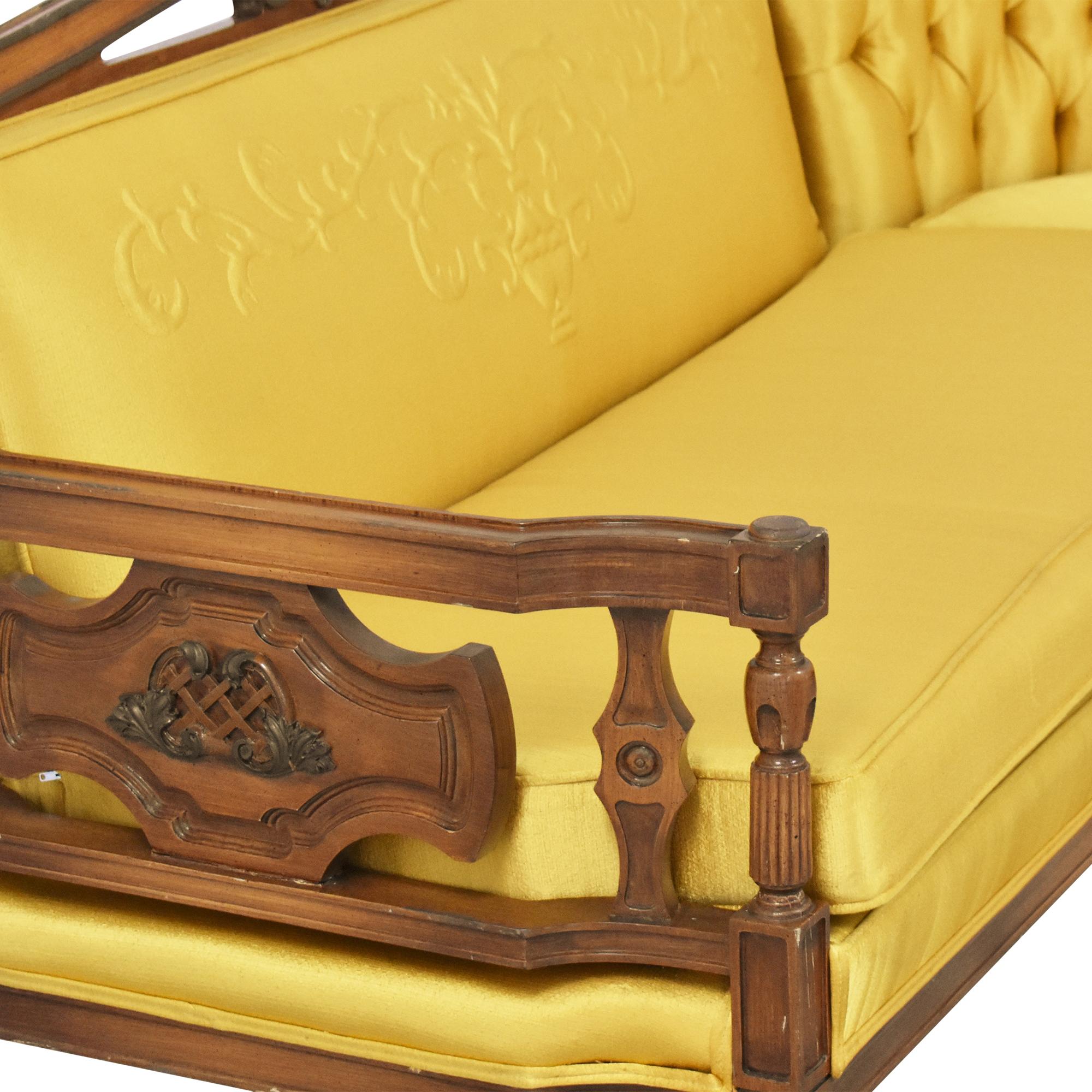 Vintage-Style Corner Sectional Sofa