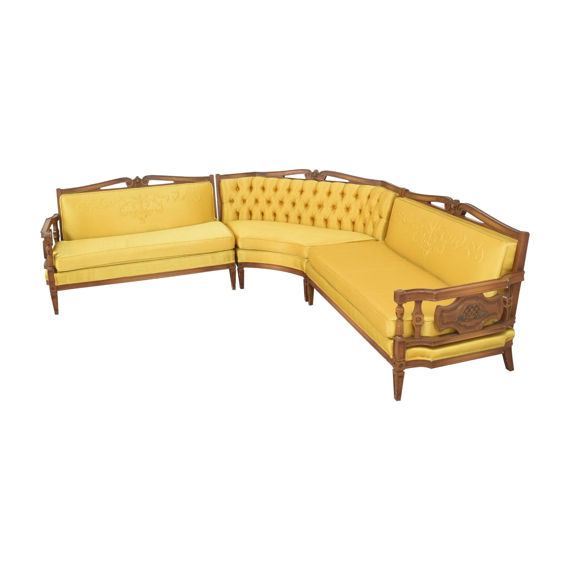 Vintage-Style Corner Sectional Sofa second hand
