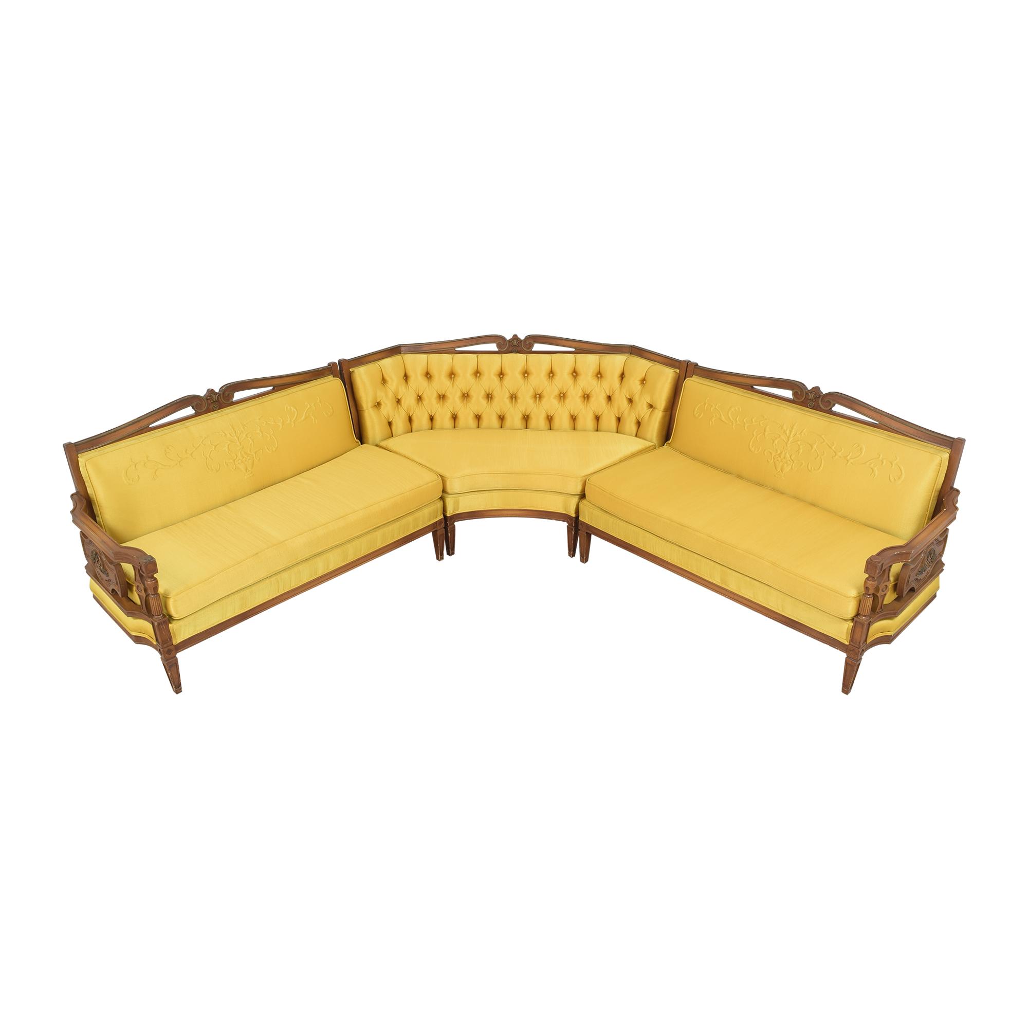 Vintage-Style Corner Sectional Sofa / Sofas