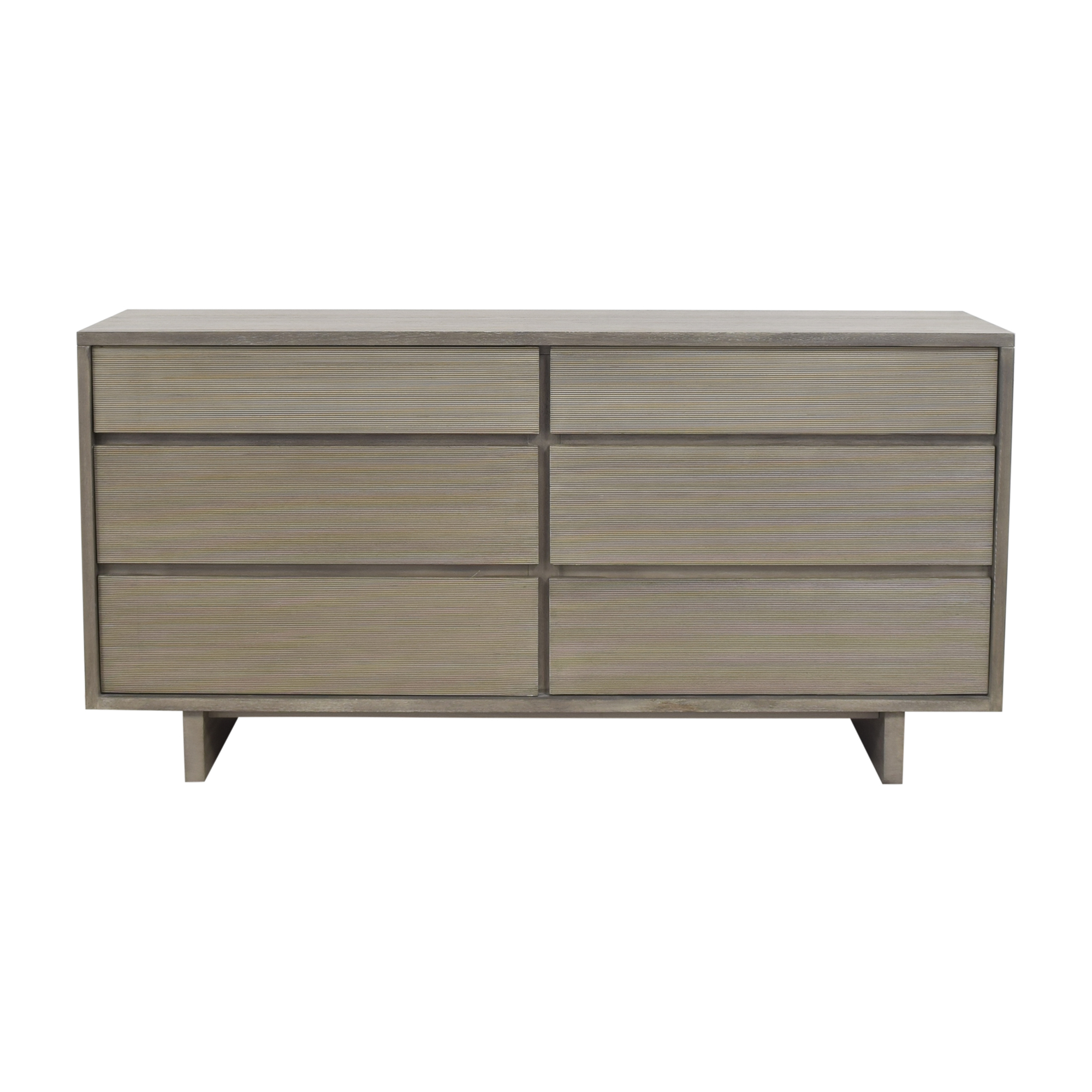 West Elm Arbor Textured Six Drawer Dresser sale