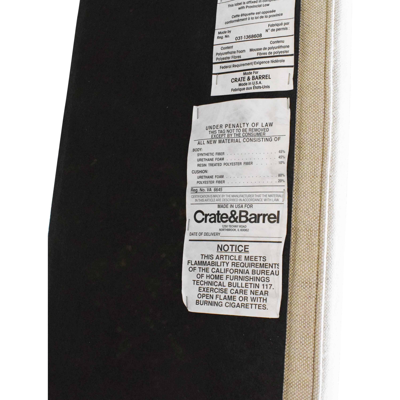 Crate & Barrel Crate & Barrel Colette Upholstered Queen Bed on sale