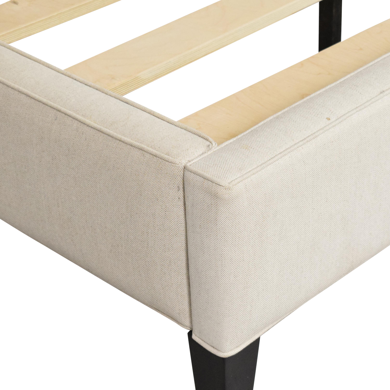 Crate & Barrel Colette Upholstered Queen Bed sale