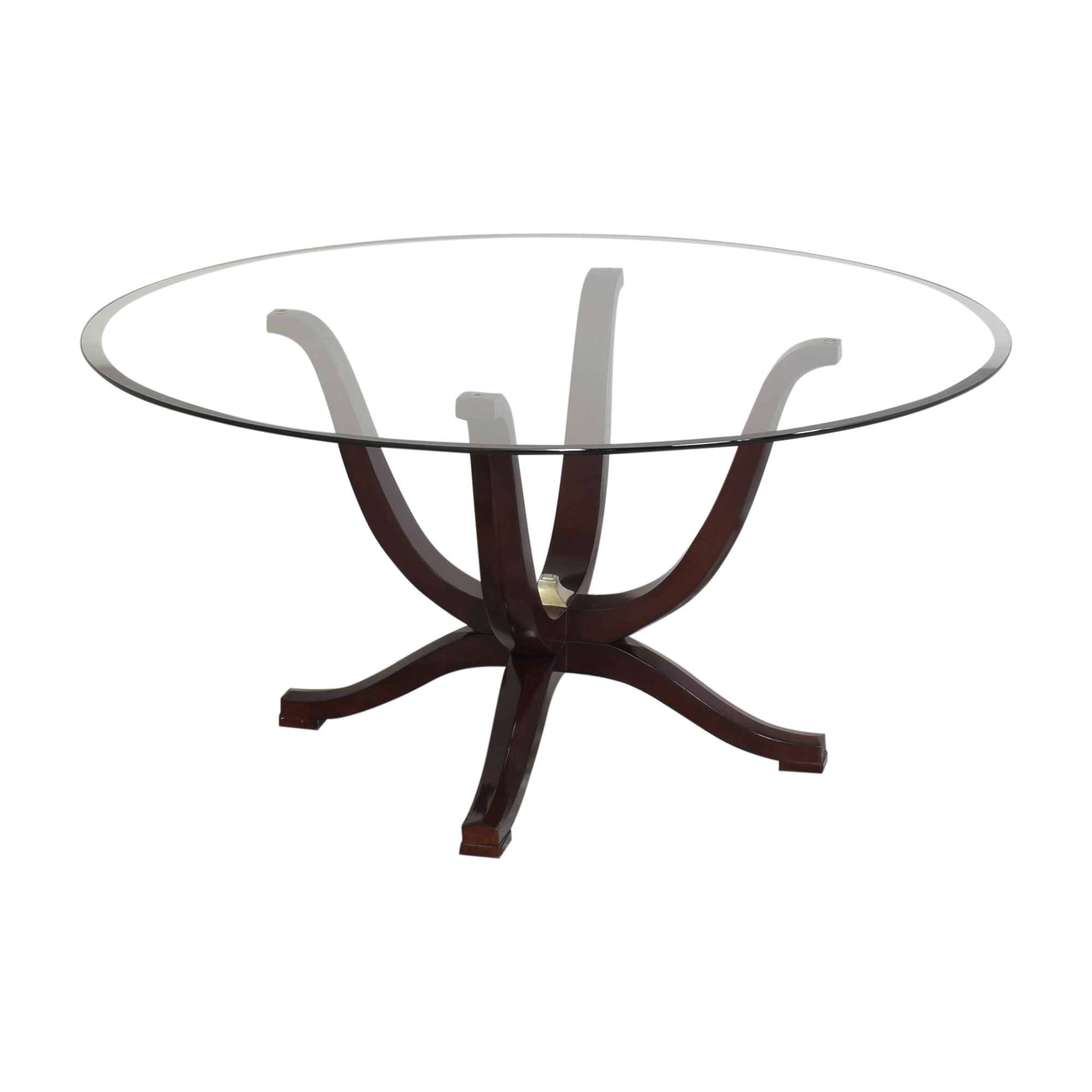 buy Fortunoff Transparent Round Dining Table Fortunoff Tables