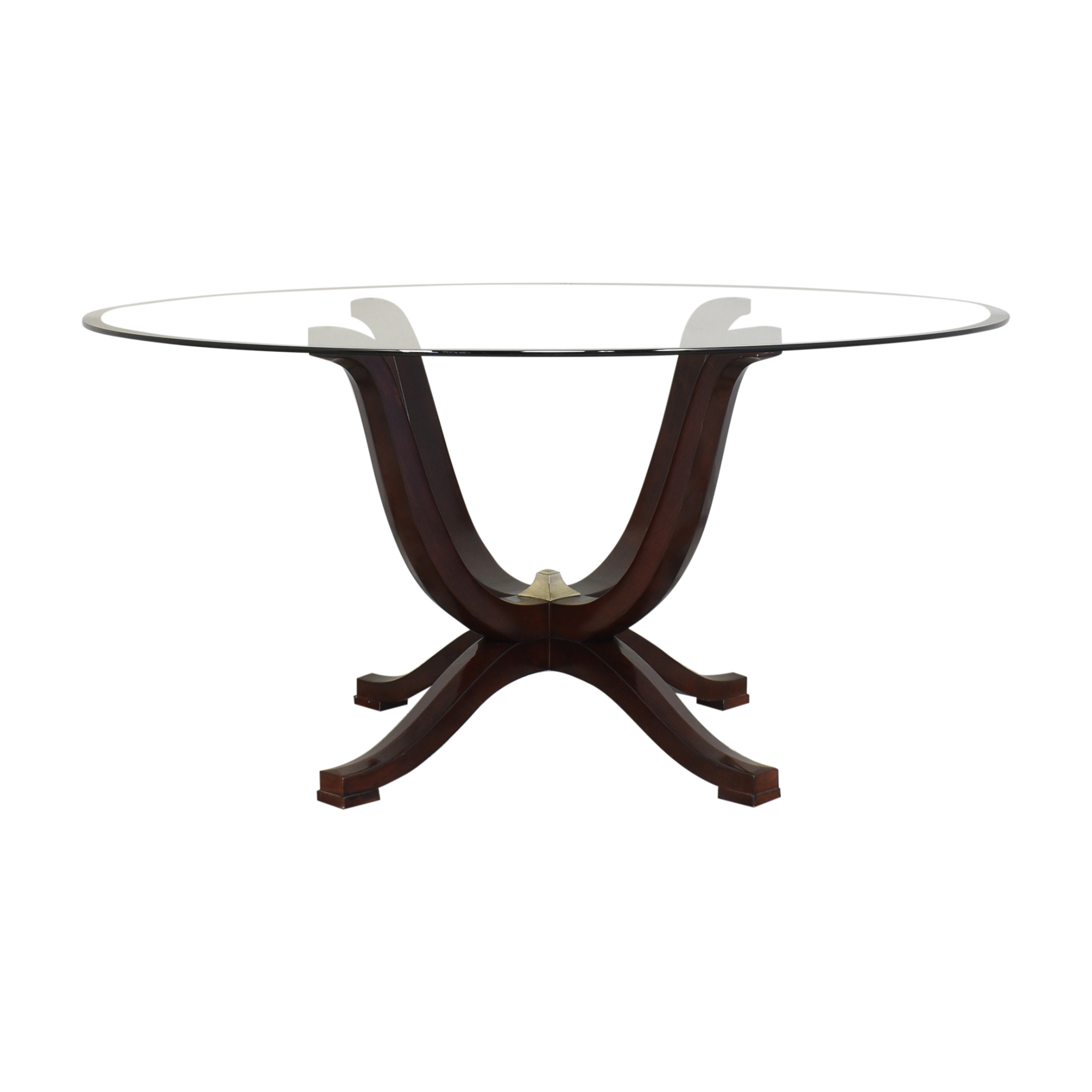 buy Fortunoff Transparent Round Dining Table Fortunoff