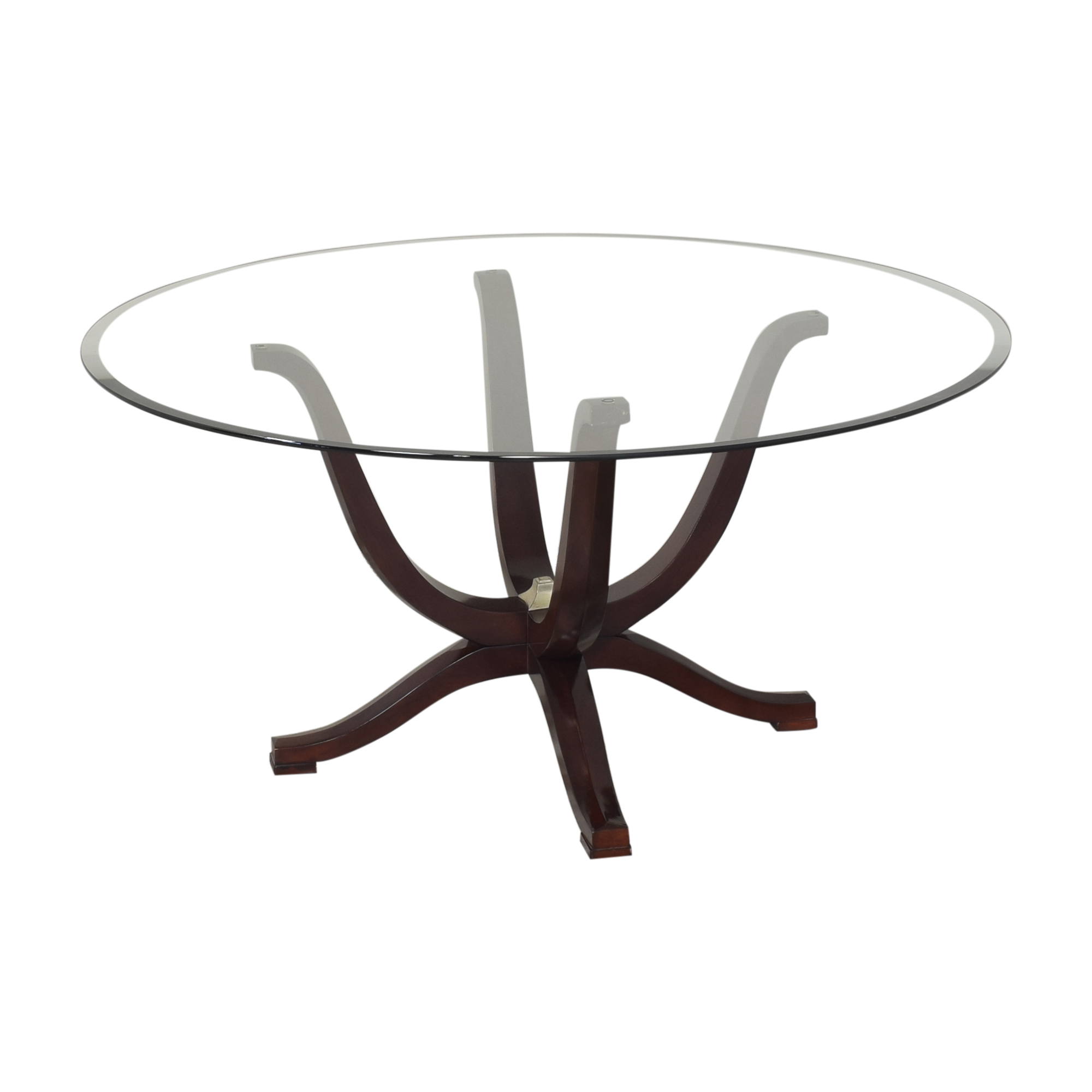 Fortunoff Fortunoff Transparent Round Dining Table for sale
