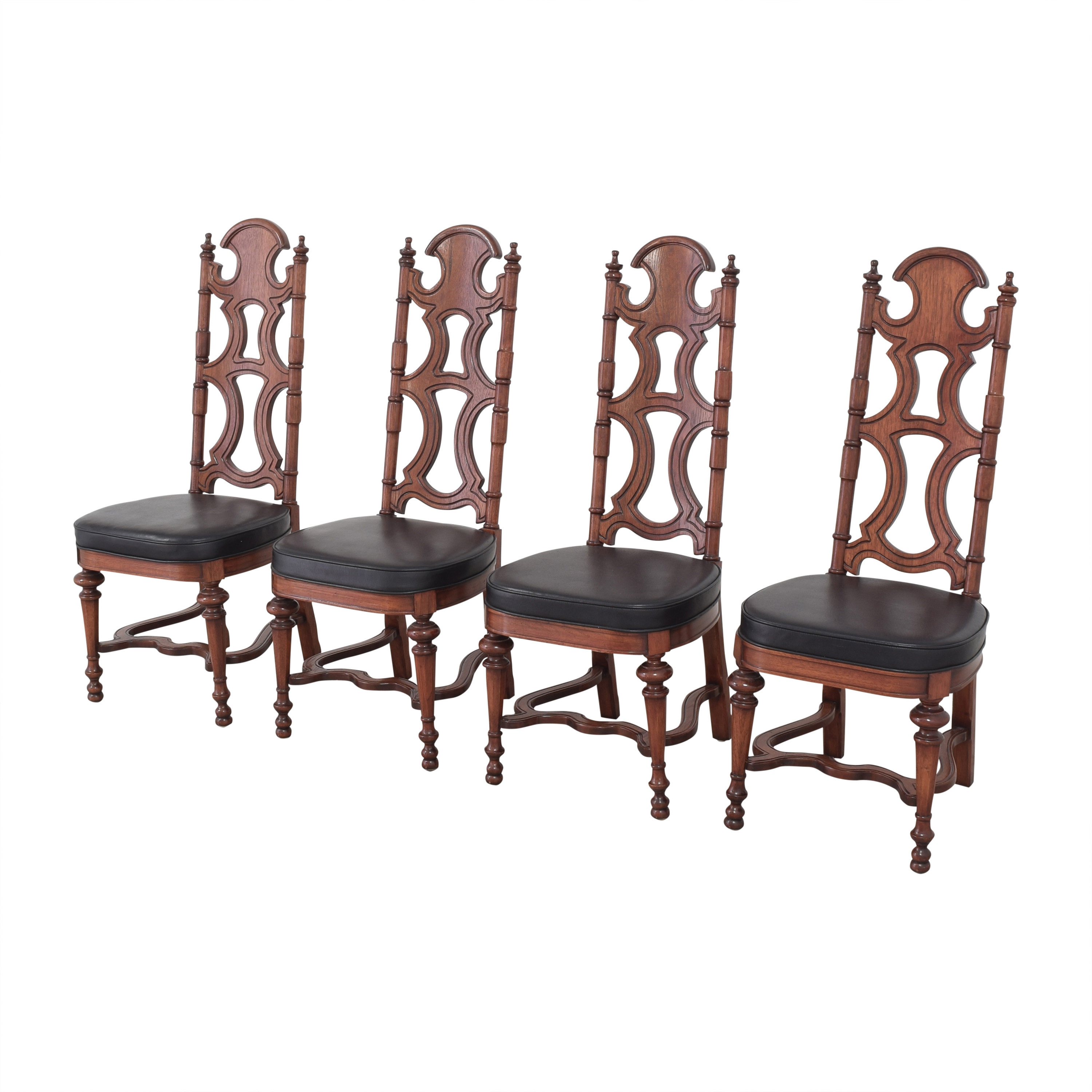 Drexel Drexel High Back Dining Chairs second hand