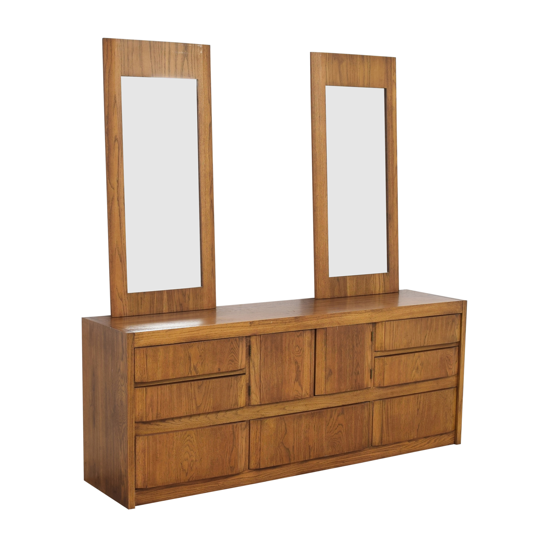 shop Huntley by Thomasville Triple Dresser with Mirrors Thomasville Storage