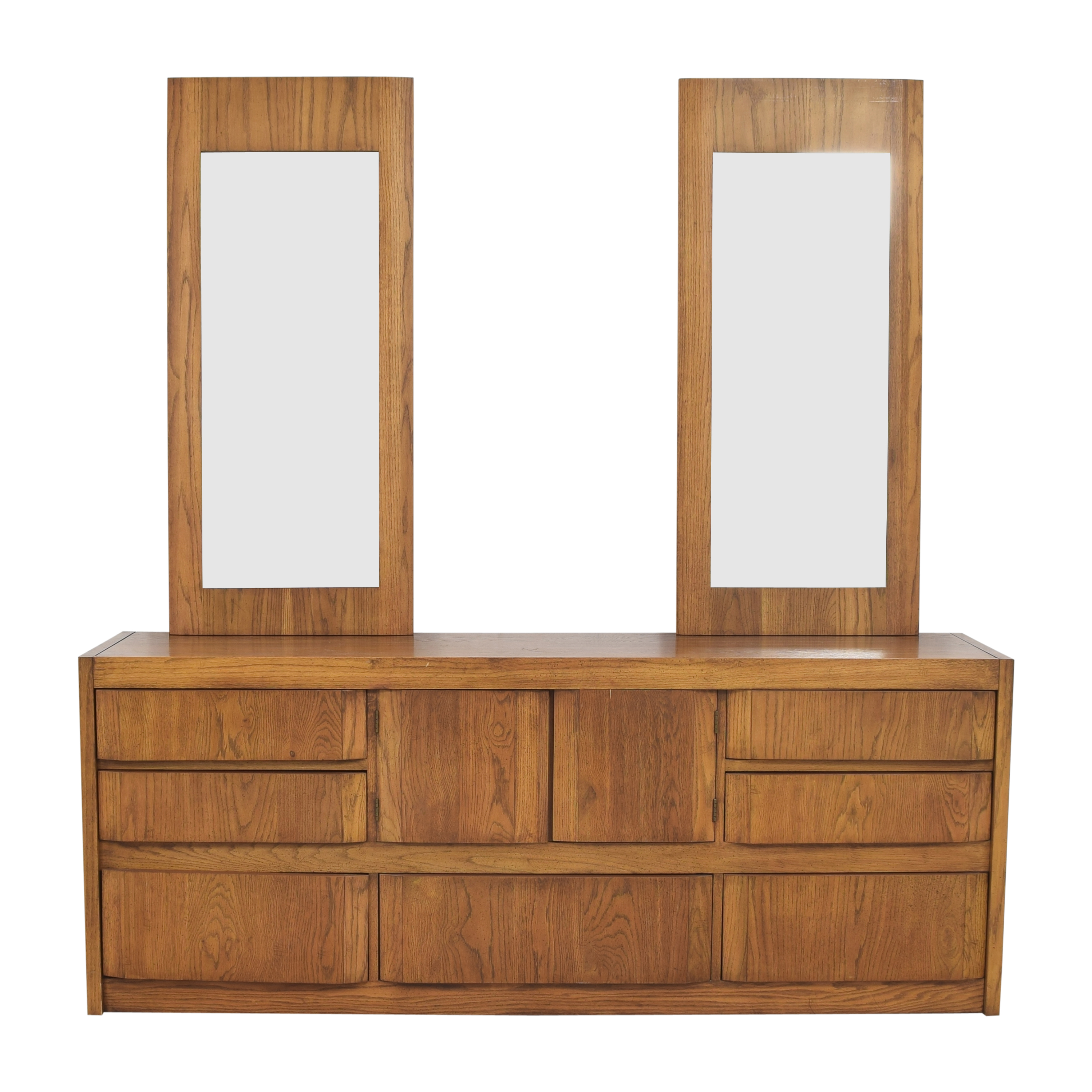 buy Huntley by Thomasville Triple Dresser with Mirrors Thomasville Storage