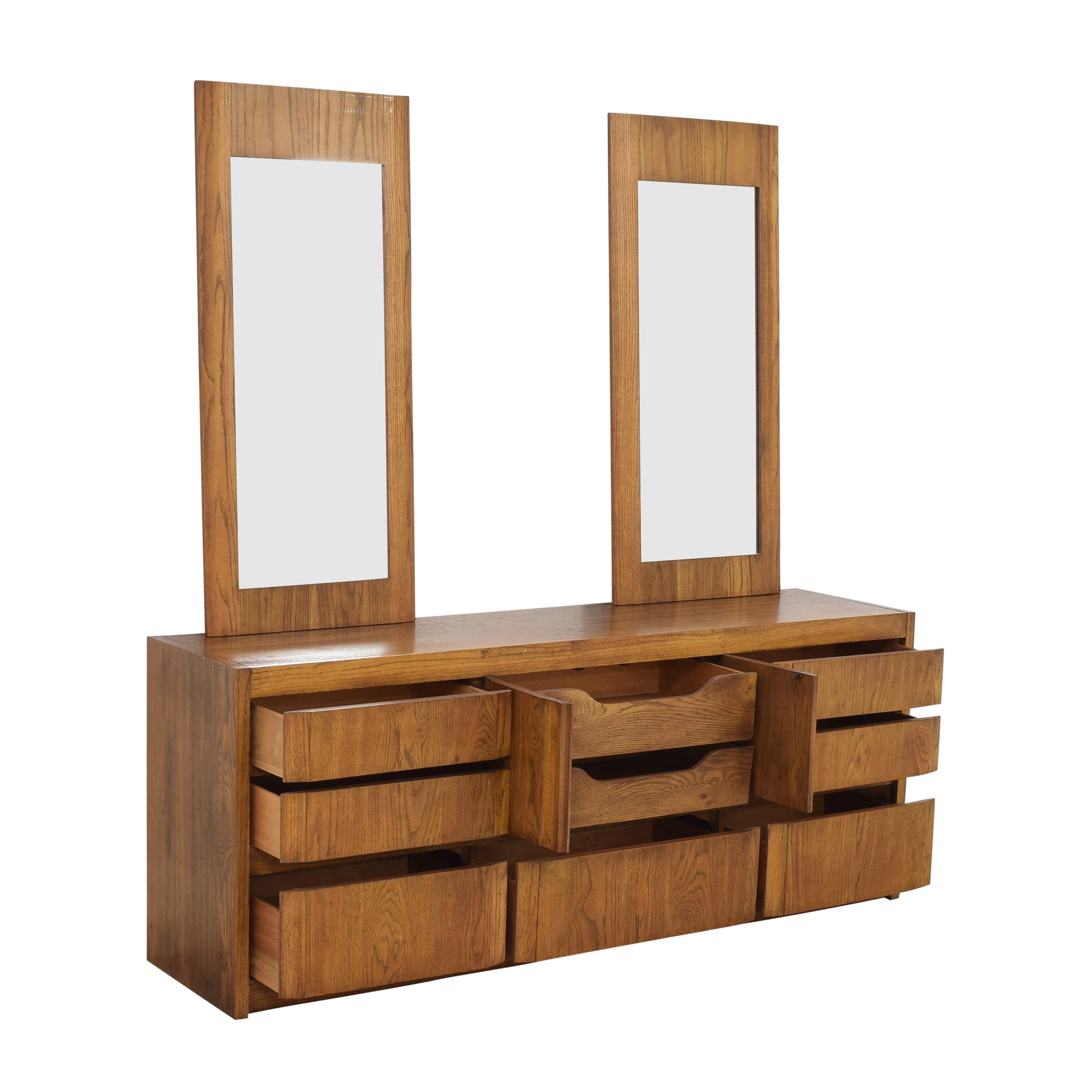 buy Huntley by Thomasville Triple Dresser with Mirrors Thomasville Dressers