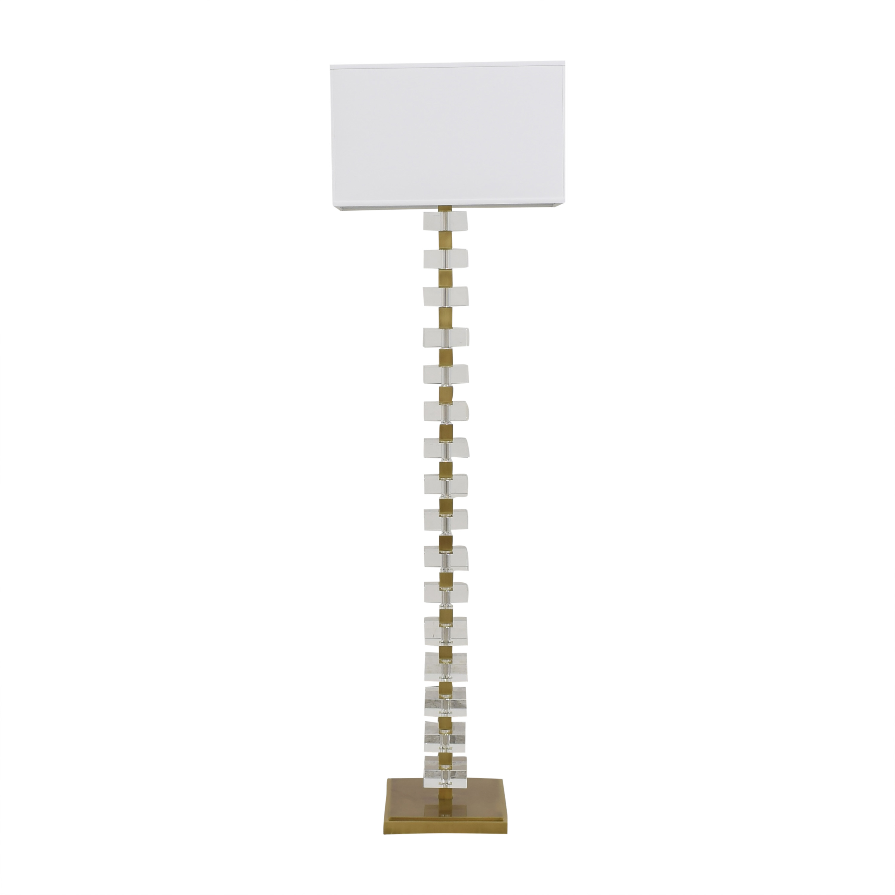 Williams Sonoma Williams Sonoma Stacked Crystal Floor Lamp