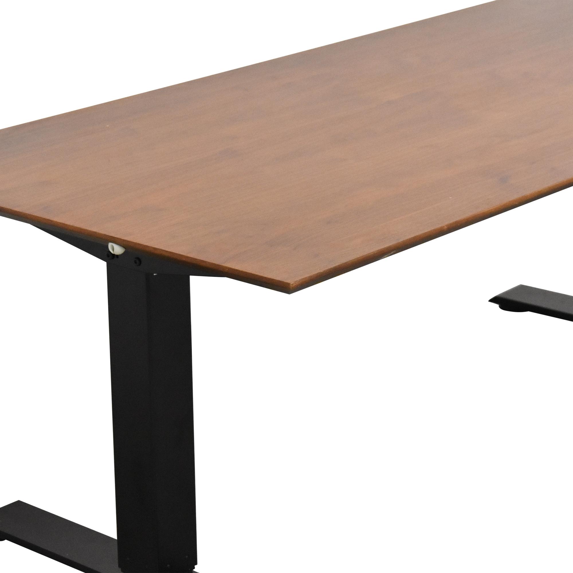shop West Elm Mid Century Sit + Stand Adjustable Desk West Elm