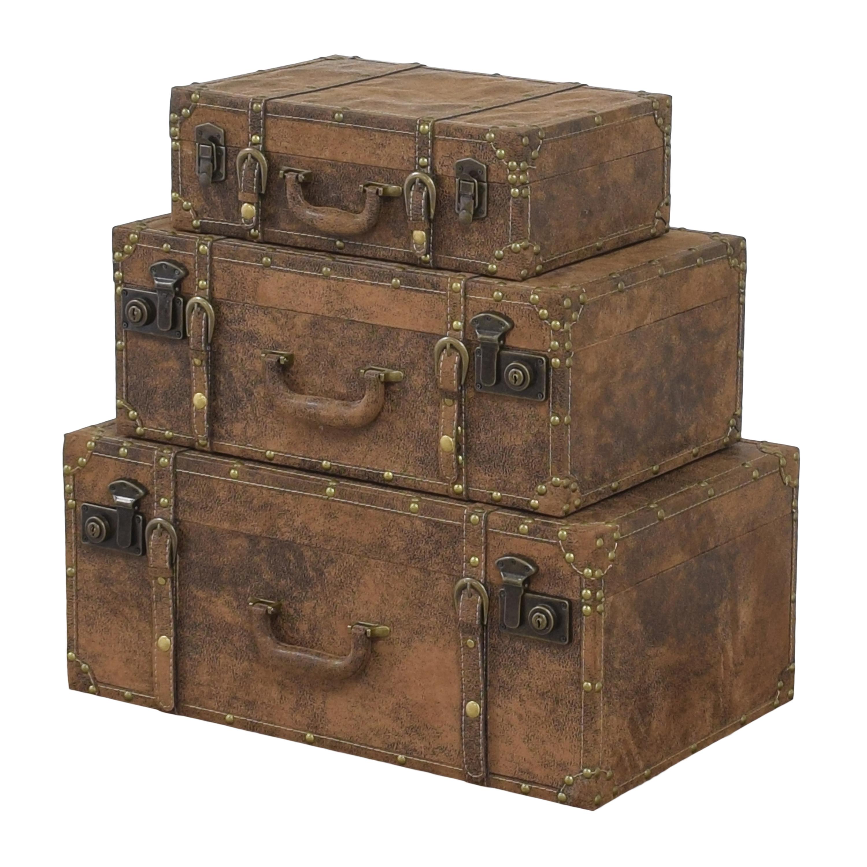 Decorative Stacking Storage Trunks