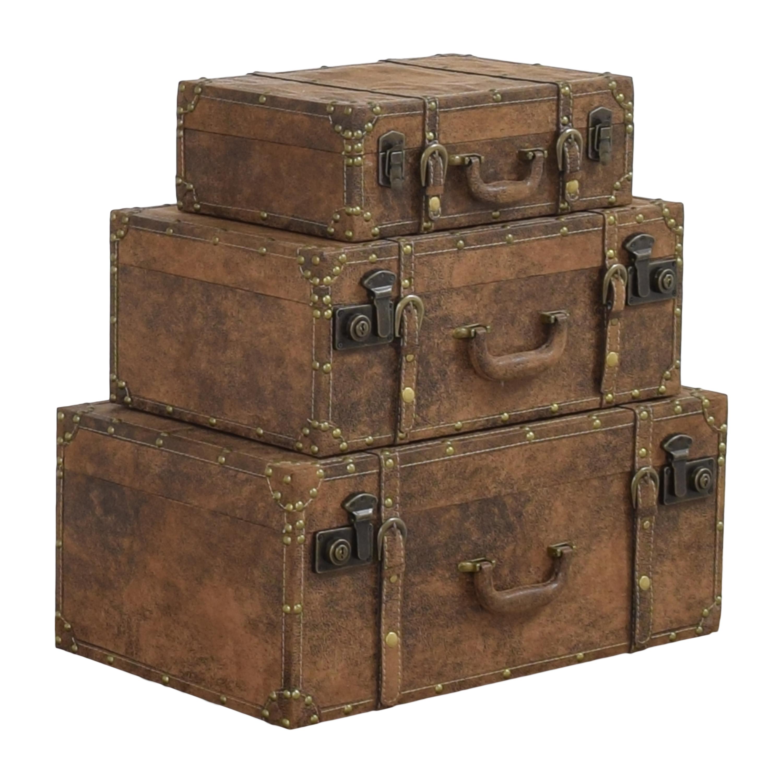 Decorative Stacking Storage Trunks / Storage