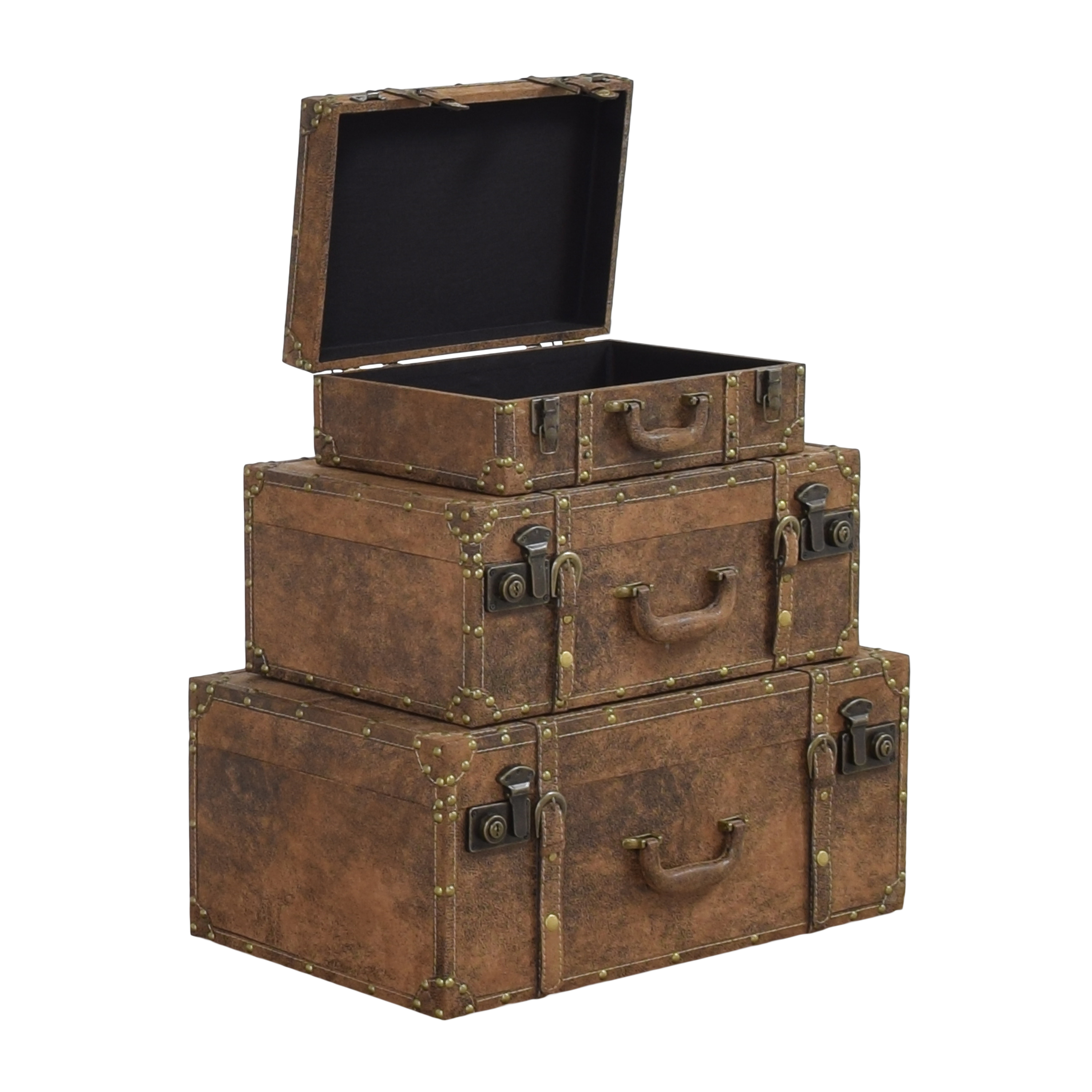Decorative Stacking Storage Trunks second hand
