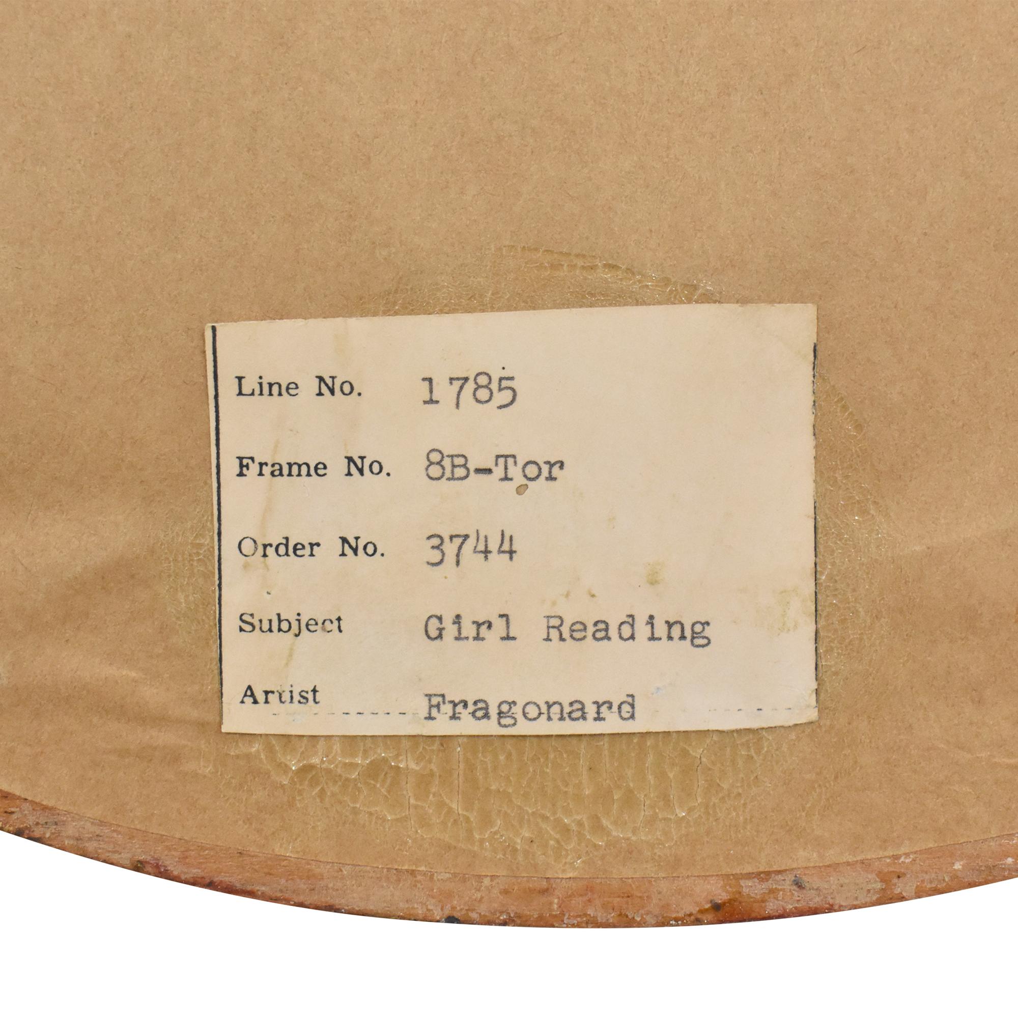 Fragonard Girl Reading Oval Framed Wall Art sale