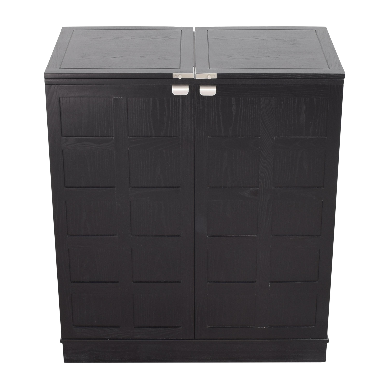 Crate & Barrel Crate & Barrel Steamer Bar Cabinet for sale