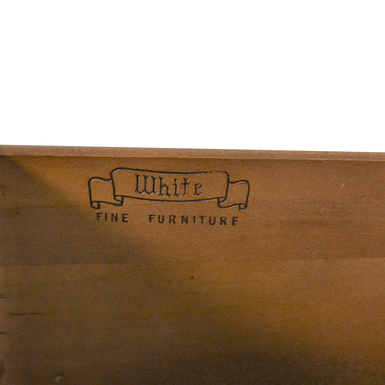 White Fine Furniture Five Drawer Chest / Dressers