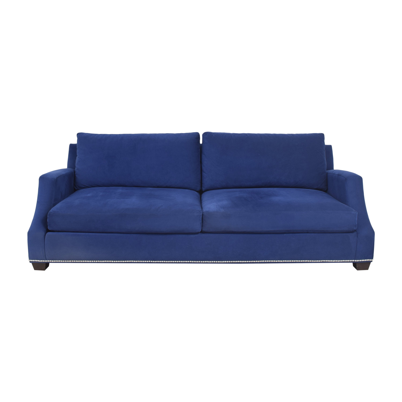 Ethan Allen Ethan Allen Nailhead Sofa with Storage Ottoman on sale