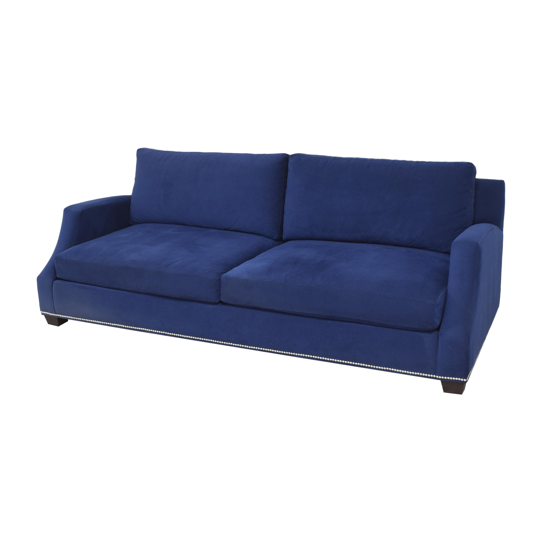 Ethan Allen Ethan Allen Nailhead Sofa with Storage Ottoman ct