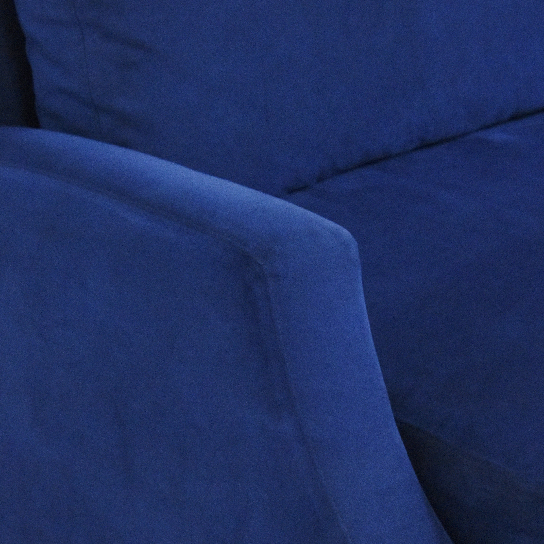 Ethan Allen Ethan Allen Nailhead Sofa with Storage Ottoman Classic Sofas