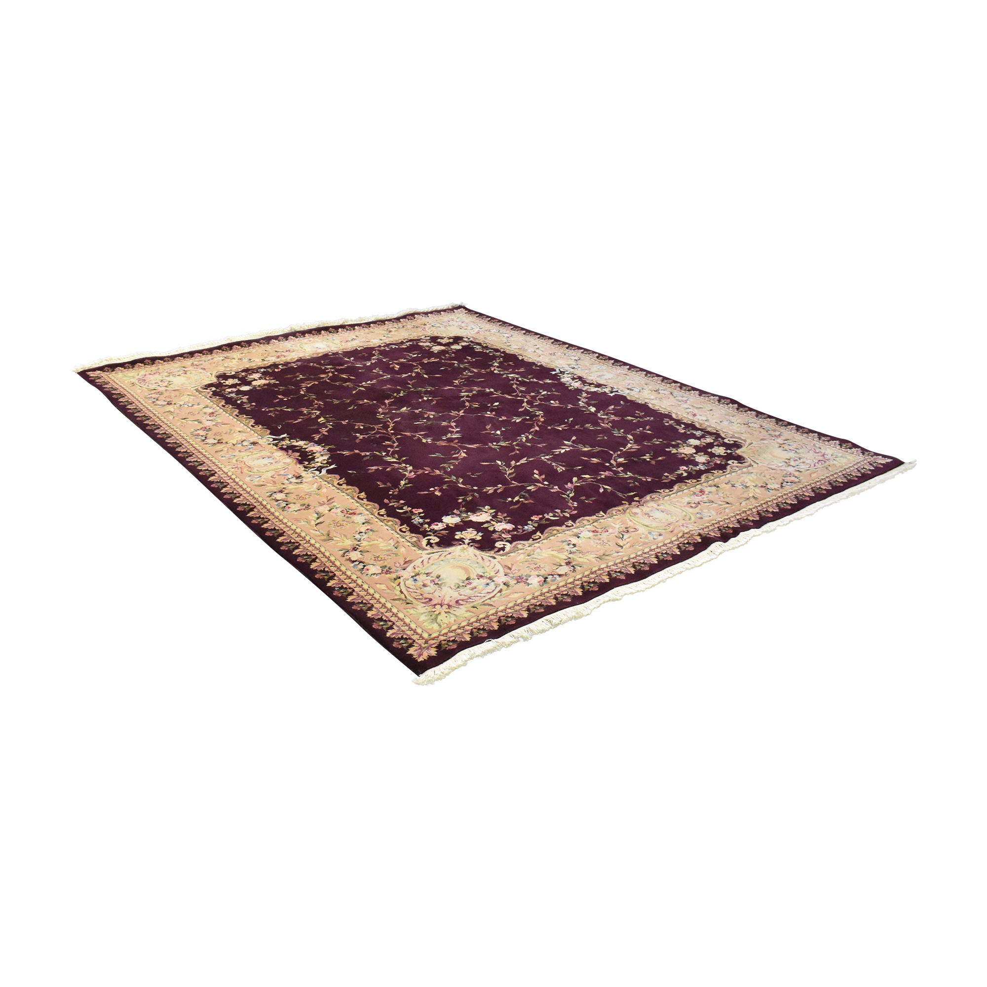 Floral Patterned Area Rug second hand