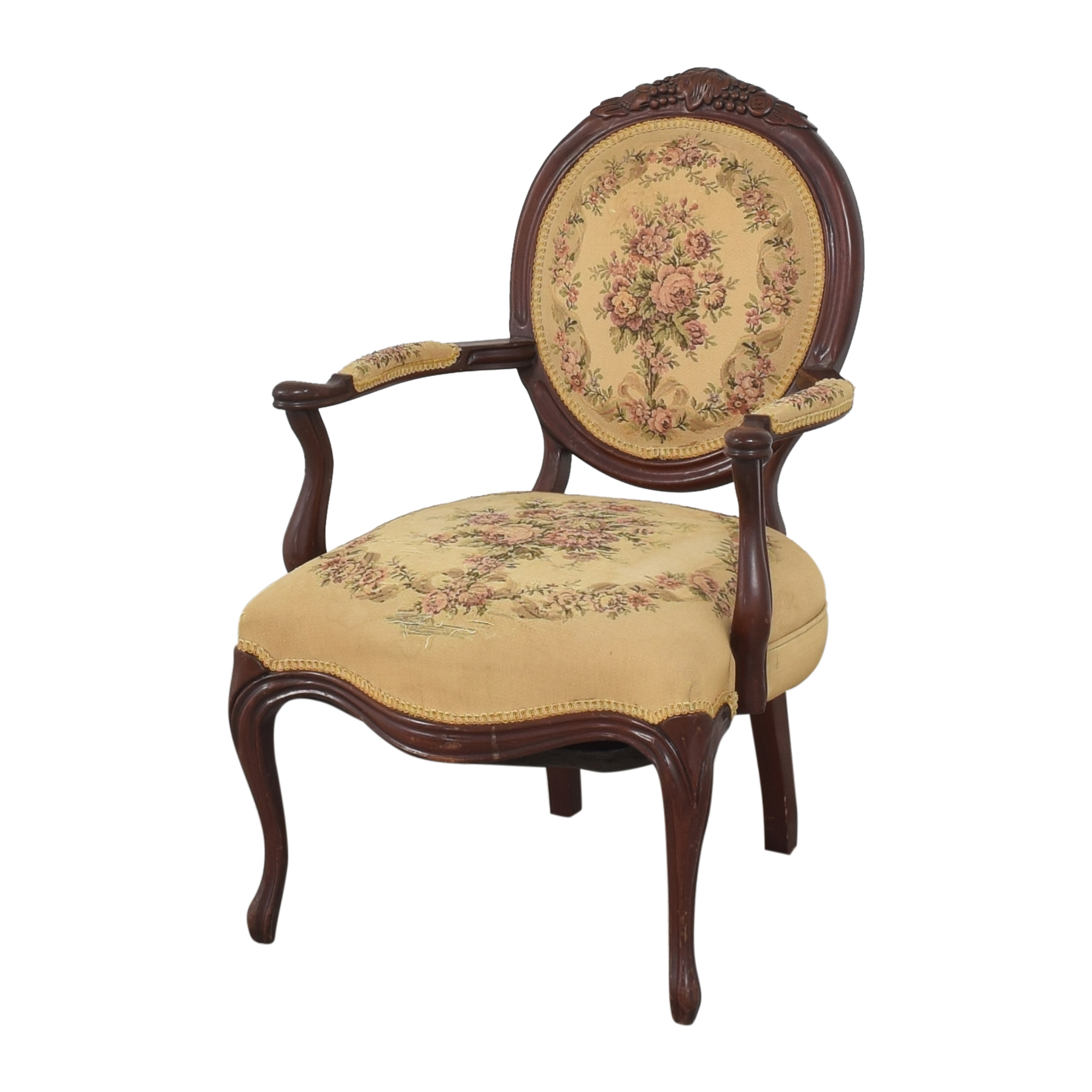 Floral Accent Chair dimensions